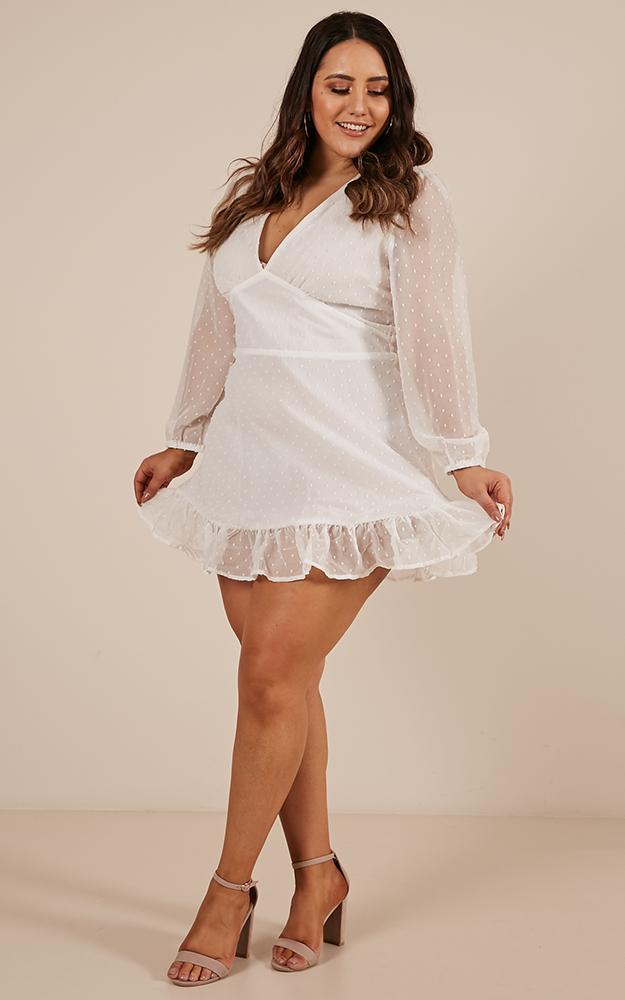 Classic crush dress in white - 20 (XXXXL), White, hi-res image number null