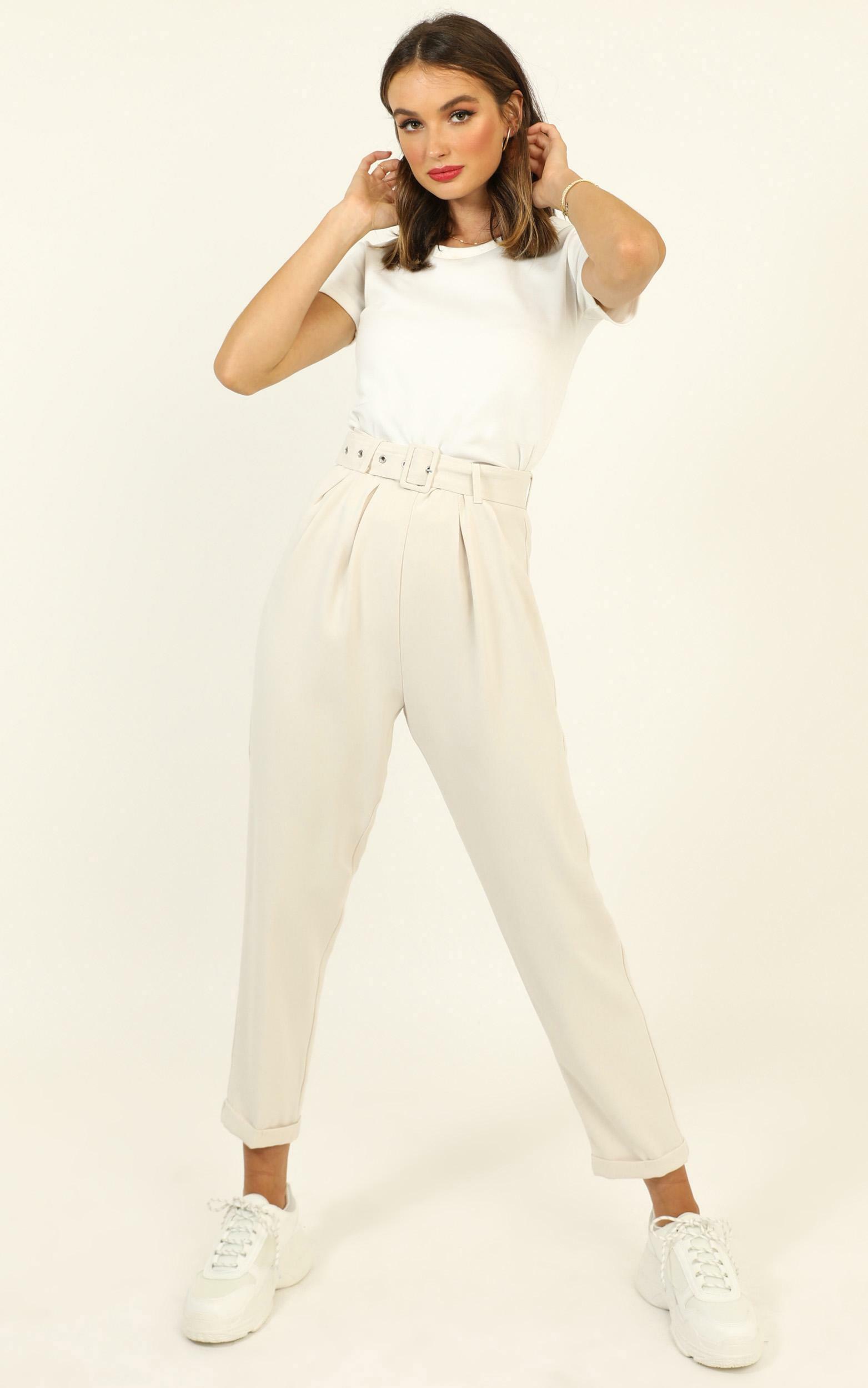 Career Goals Pants in cream - 14 (XL), Cream, hi-res image number null