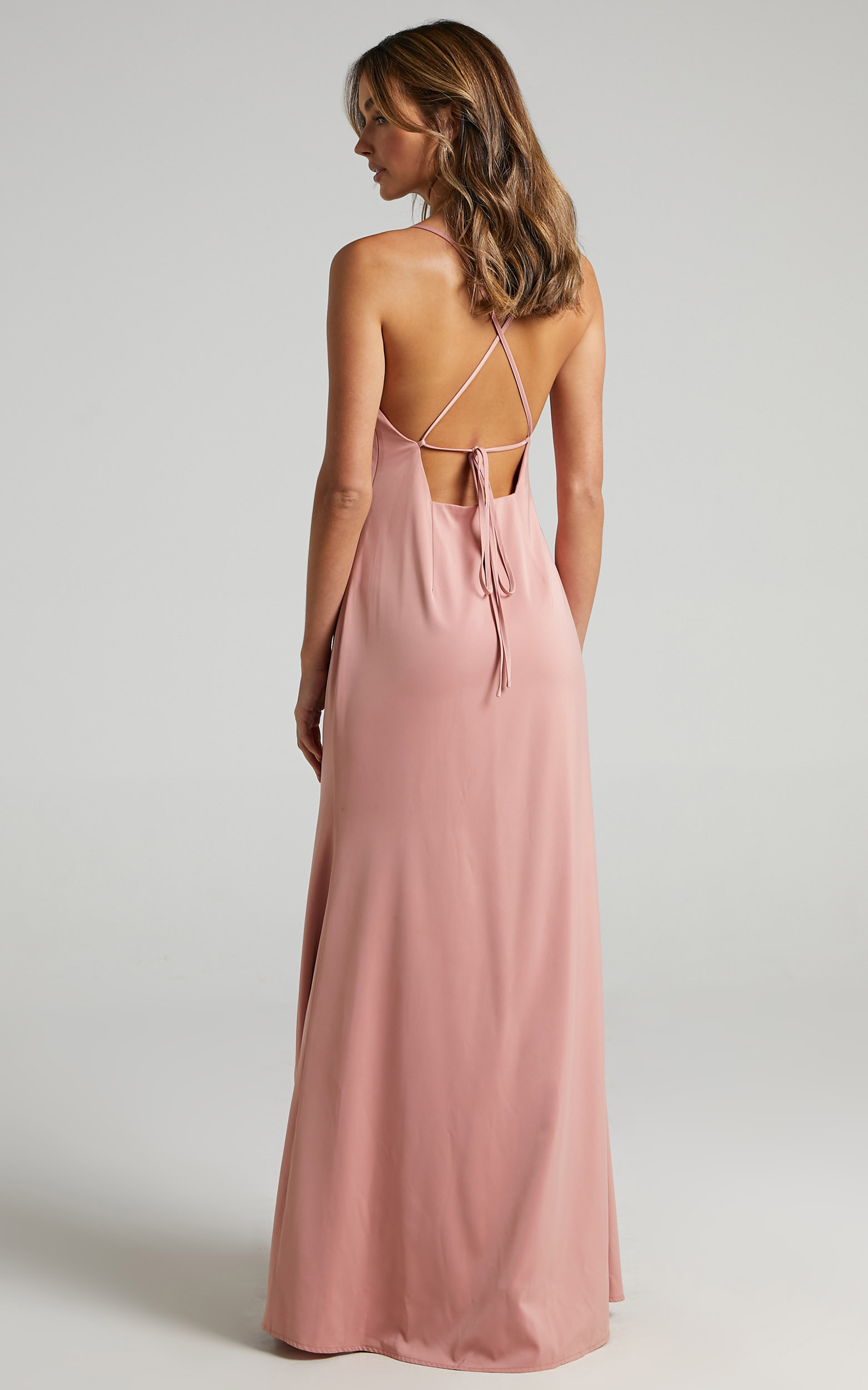 A Final Toast Dress in Peach Satin - 06, ORG2, hi-res image number null