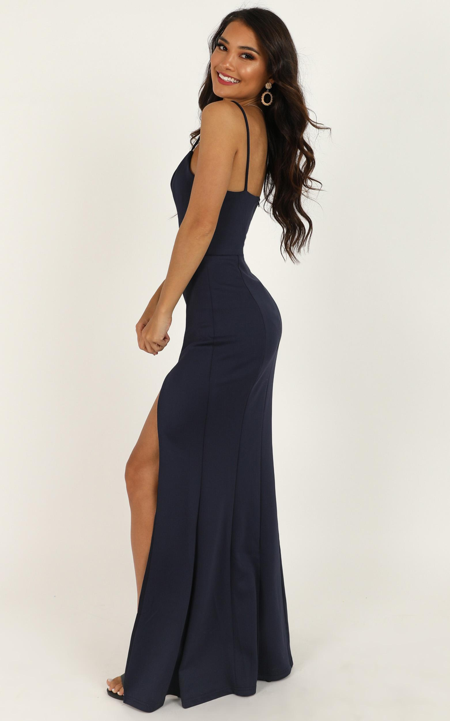 Dare To Dream Maxi Dress In Steel Blue - 20 (XXXXL), Blue, hi-res image number null