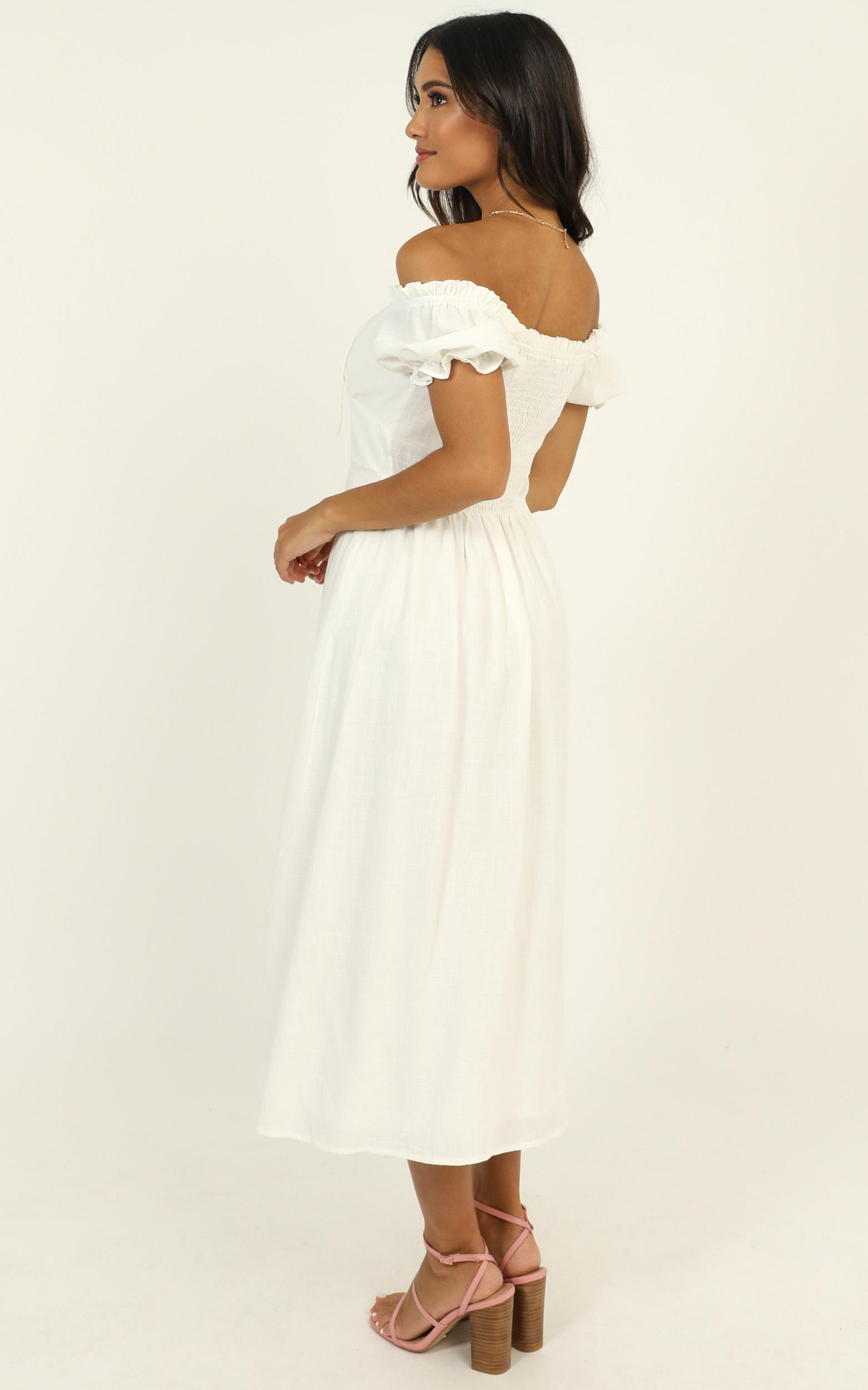 Beachside Sounds Dress in white - 14 (XL), White, hi-res image number null