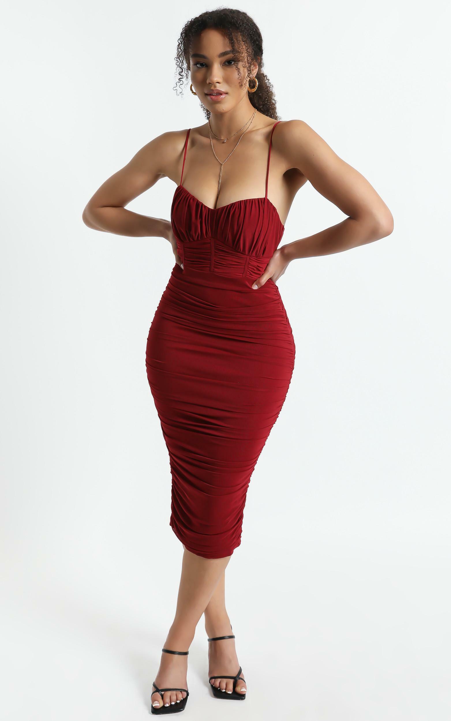 Periwinkle Dress In Wine - 16 (XXL), Wine, hi-res image number null