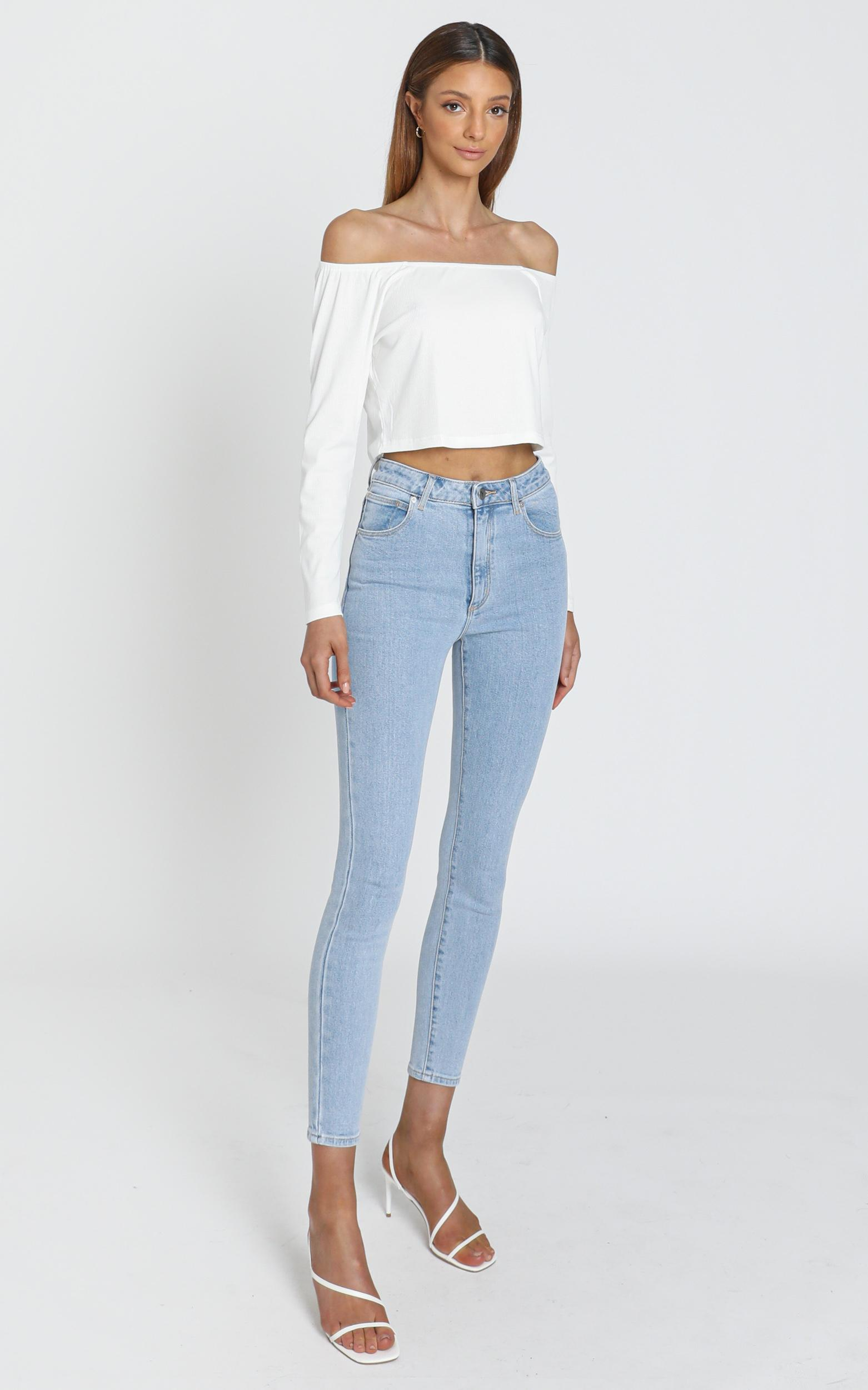 Helena Long sleeve top White - 6 (XS), White, hi-res image number null