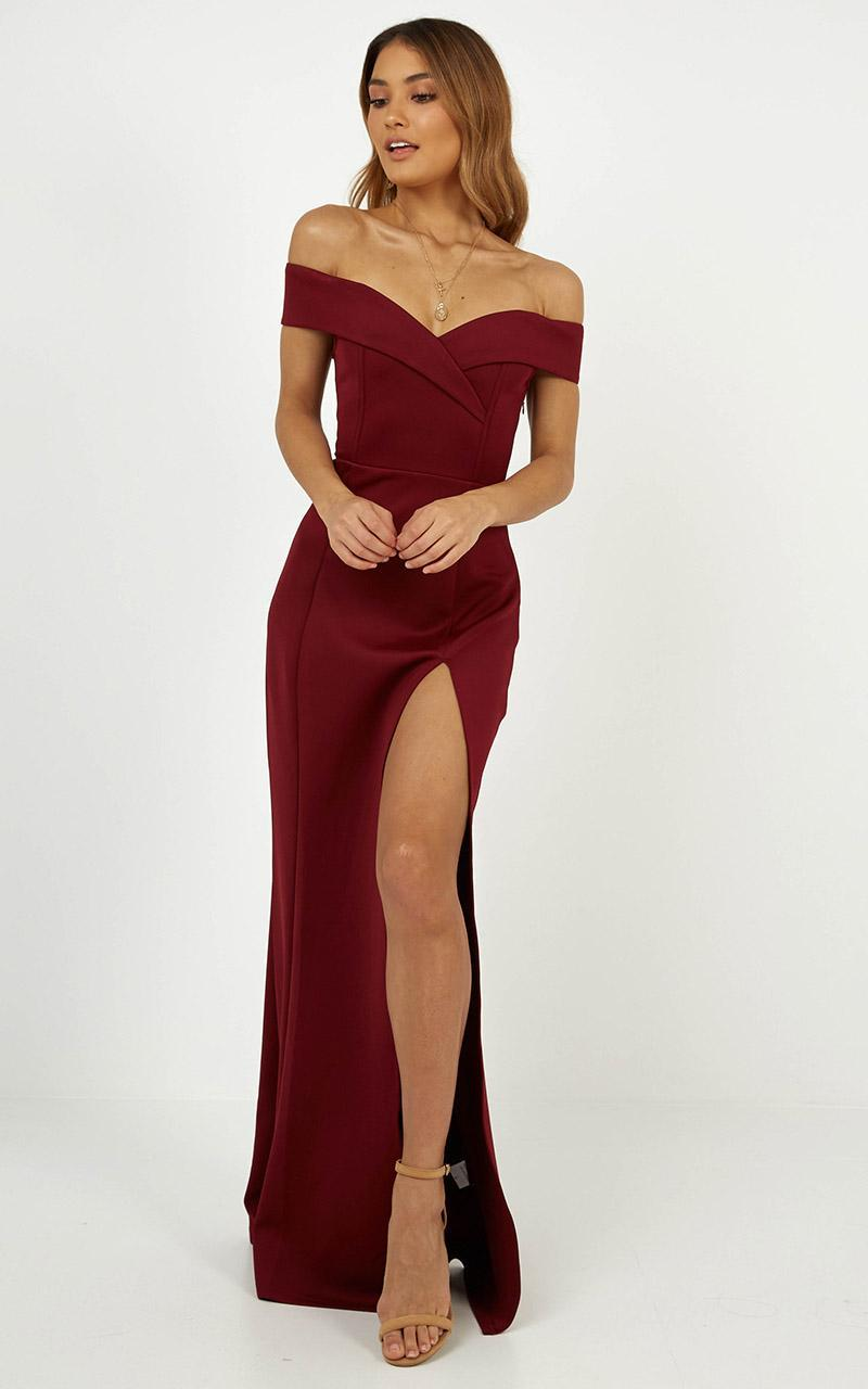 One For The Money dress in wine - 4 (XXS), Wine, hi-res image number null
