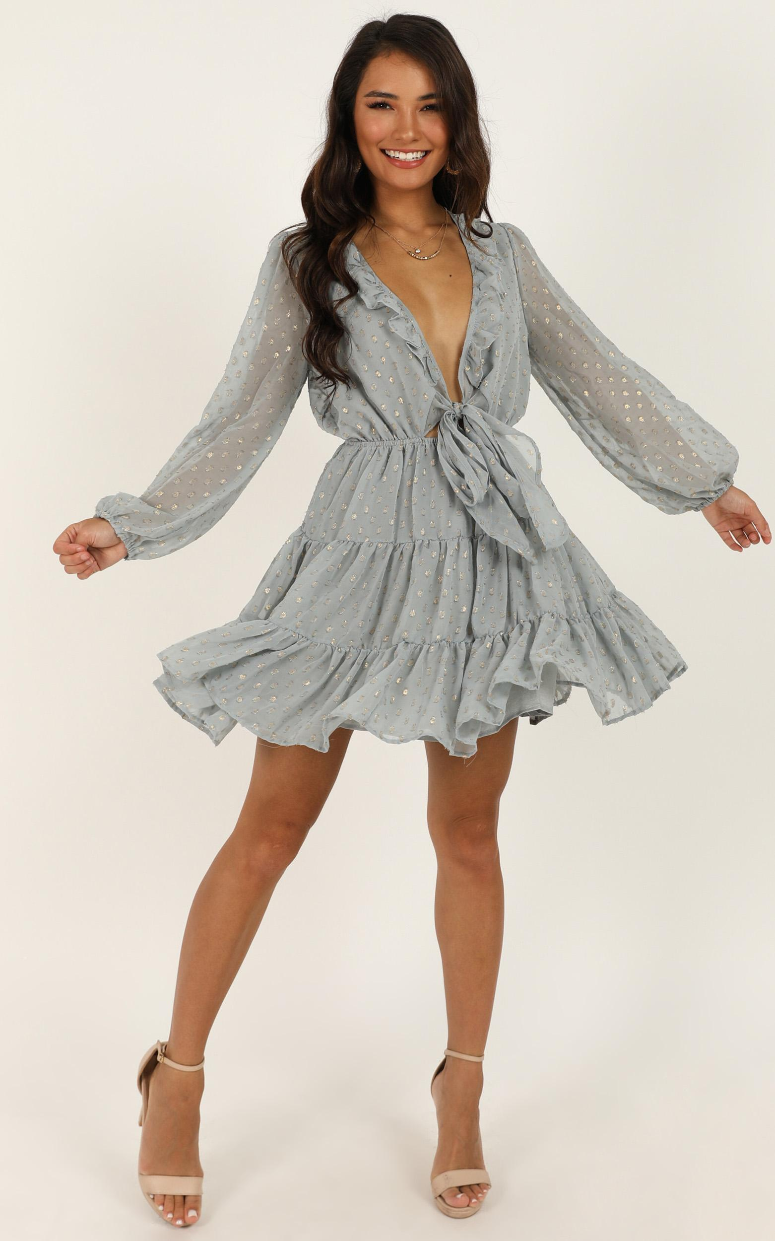 Steal The Scene Dress In Blue - 16 (XXL), Blue, hi-res image number null