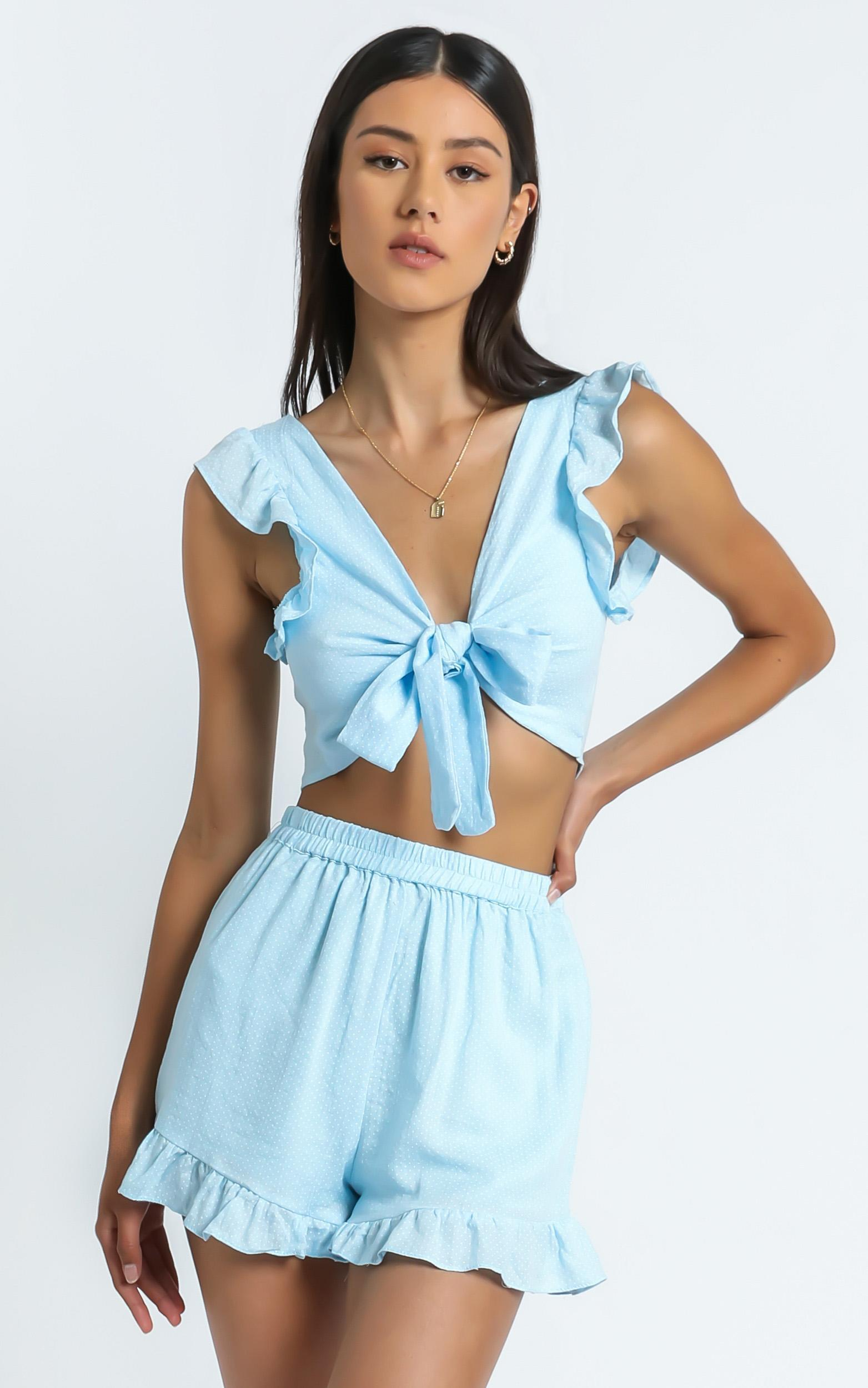 Enid Two Piece Set In Light Blue - 6 (XS), BLU15, hi-res image number null