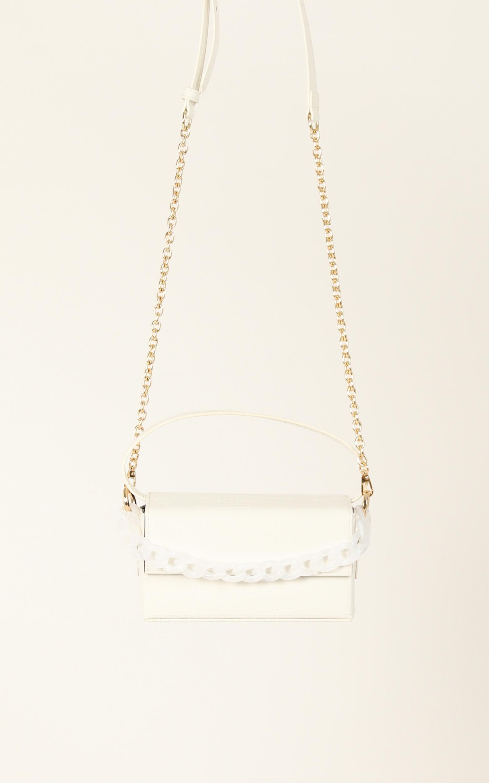 Perfect Places Bag In White Croc And Gold, , hi-res image number null