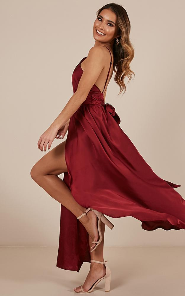Stroke Of Luck Maxi Dress in wine - 4 (XXS), Wine, hi-res image number null