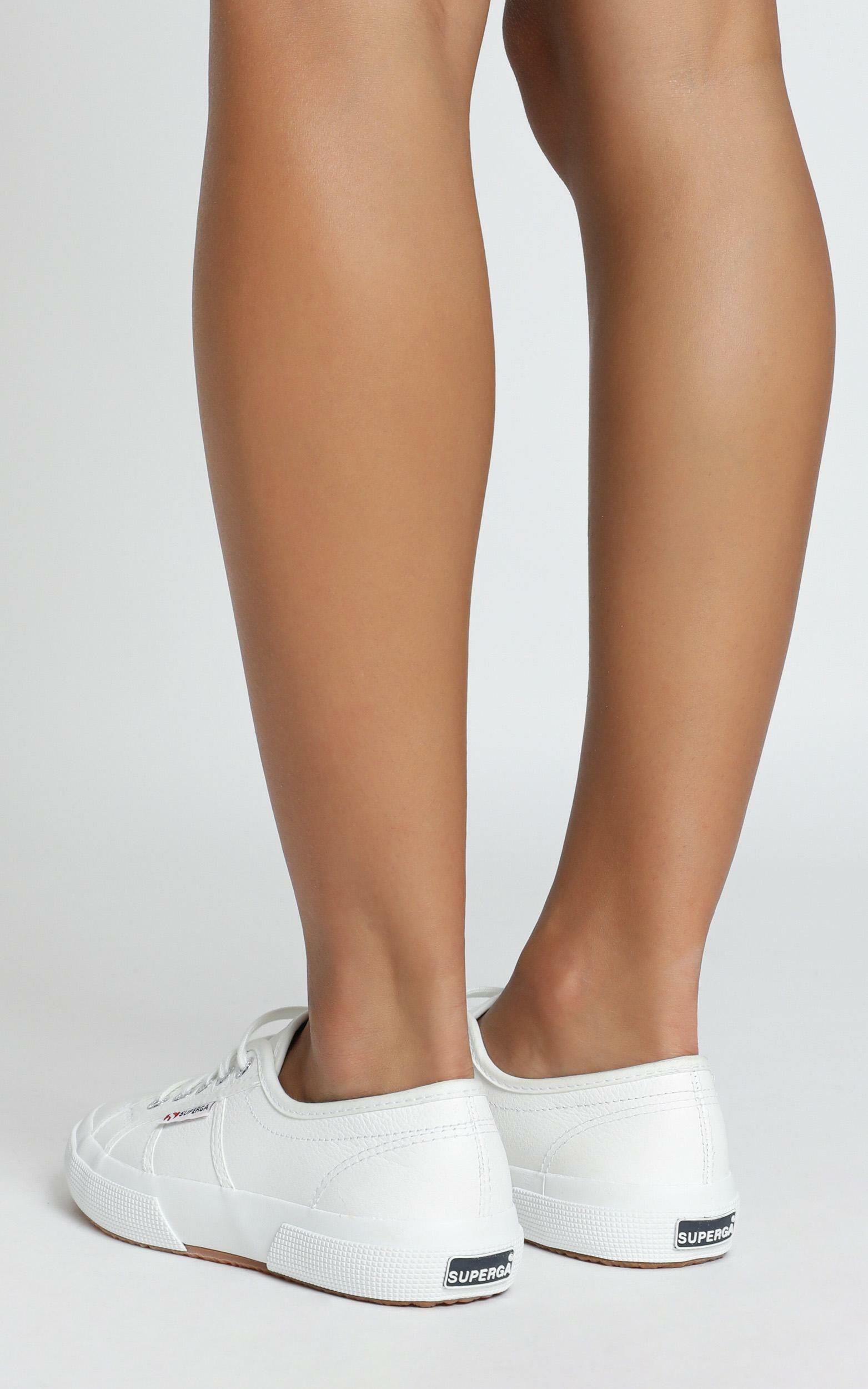 Superga - 2750 EFGLU Sneaker in white leather - 5, White, hi-res image number null