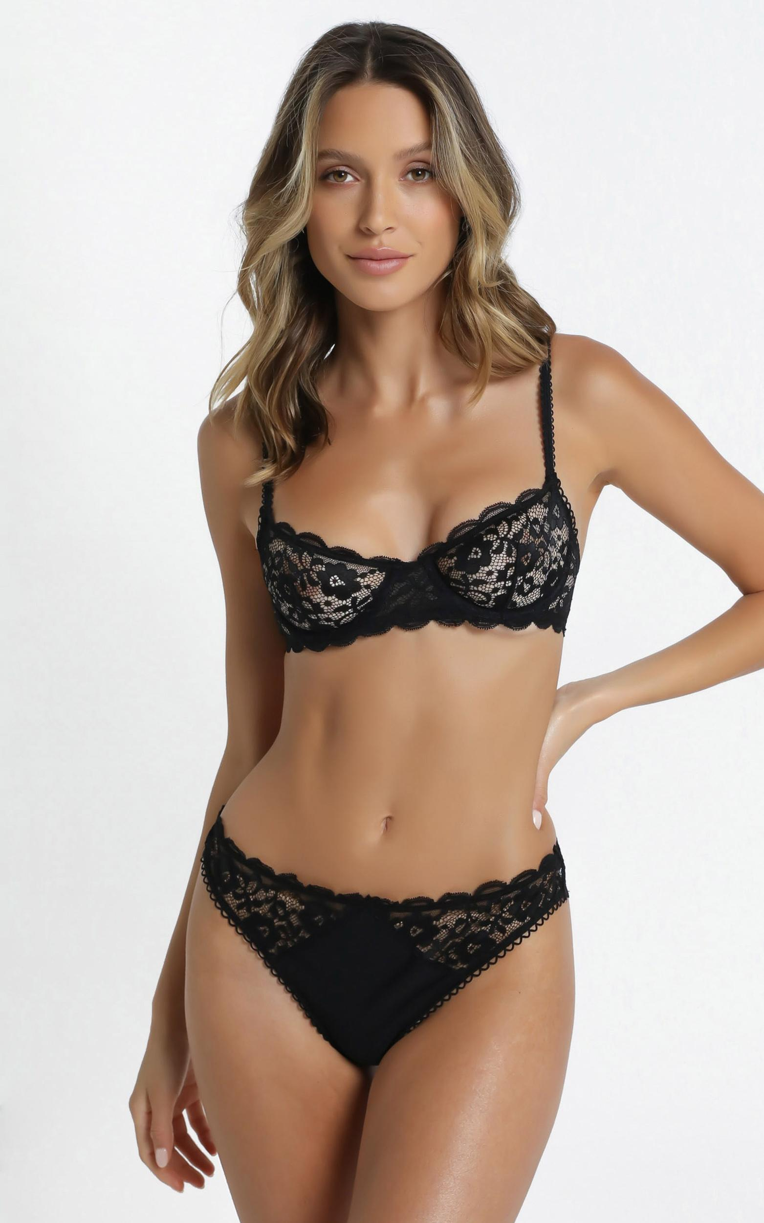 Kat The Label - Annie Underwear in Black Lace - XS, Black, hi-res image number null