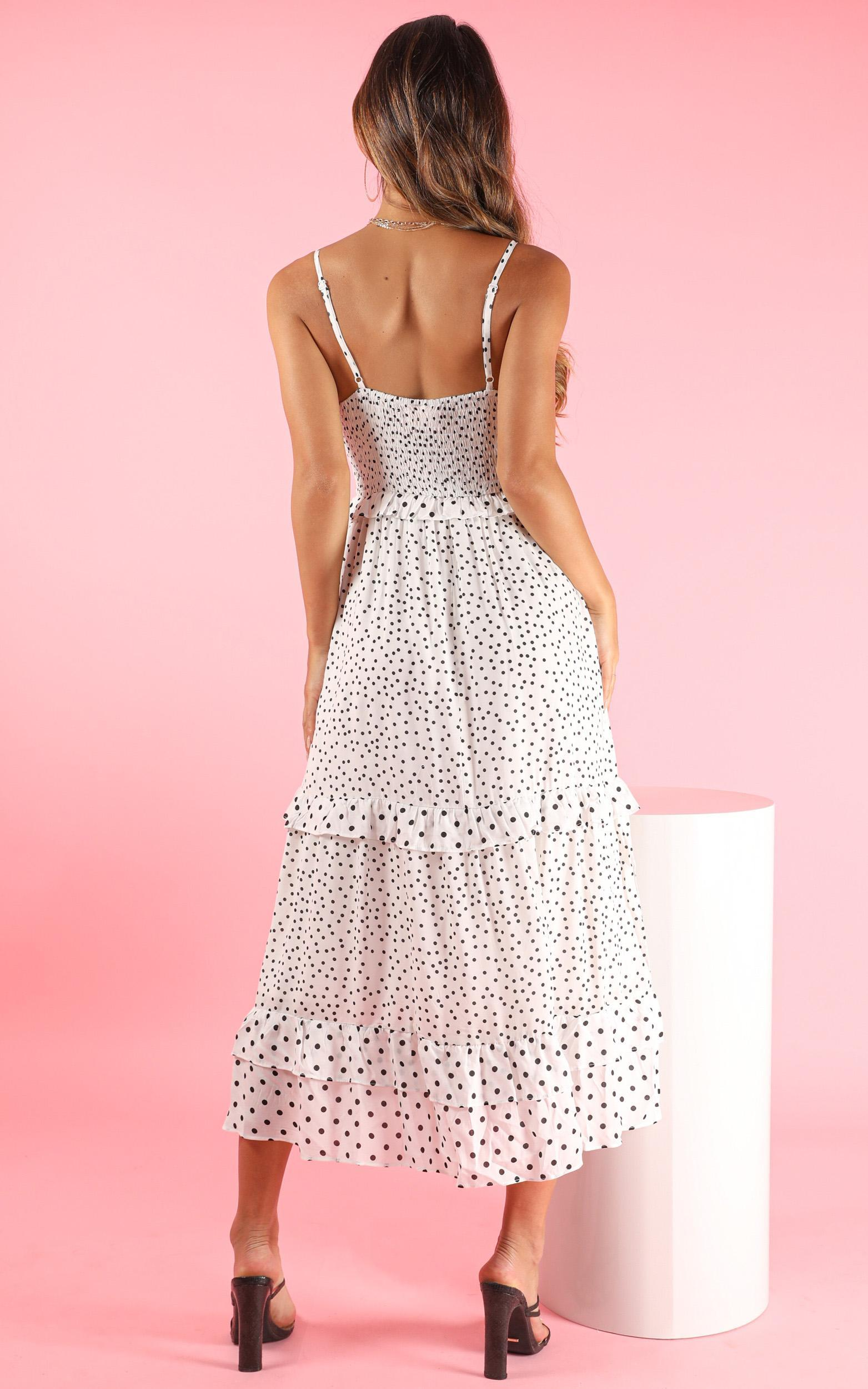 Greater Path dress in white spot - 16 (XXL), White, hi-res image number null
