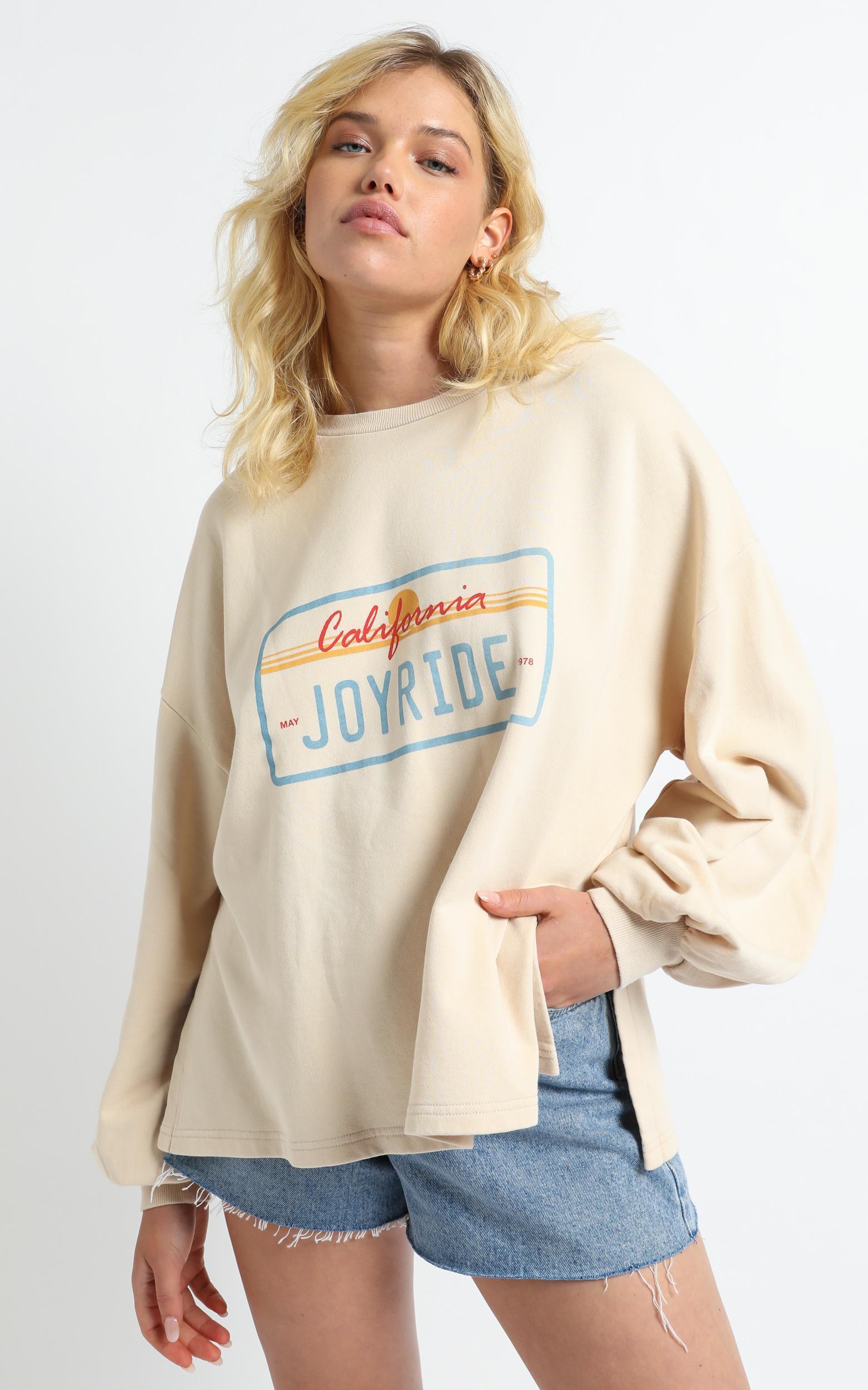 Charlie Holiday - Joyride Sweatshirt in Birch - XS, Beige, hi-res image number null