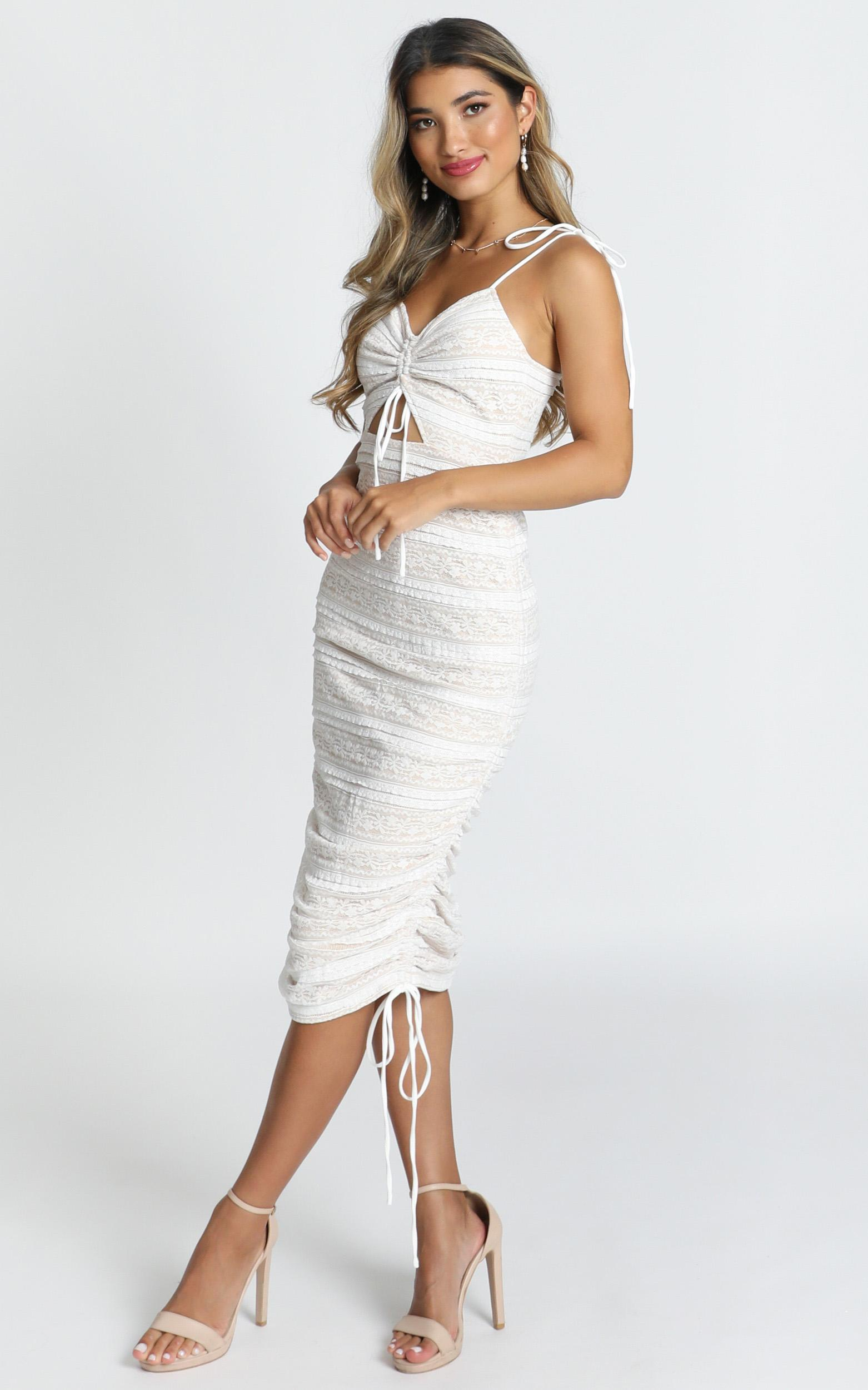 Dont Slip Away Dress in white lace - 20 (XXXXL), White, hi-res image number null