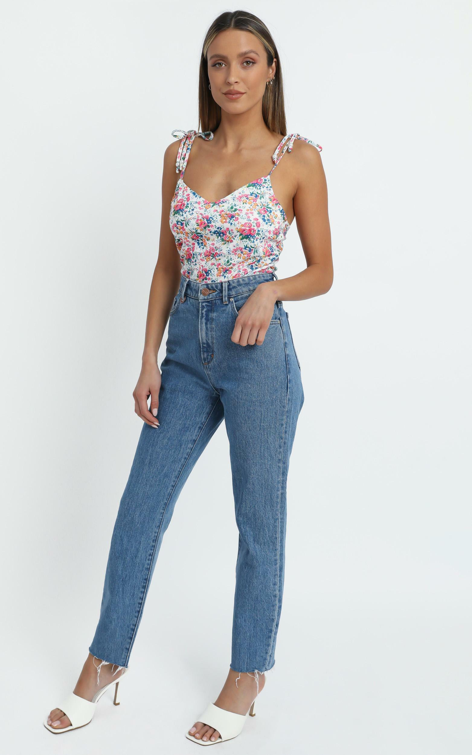 Haylo Top in Vivid Floral - 14 (XL), White, hi-res image number null
