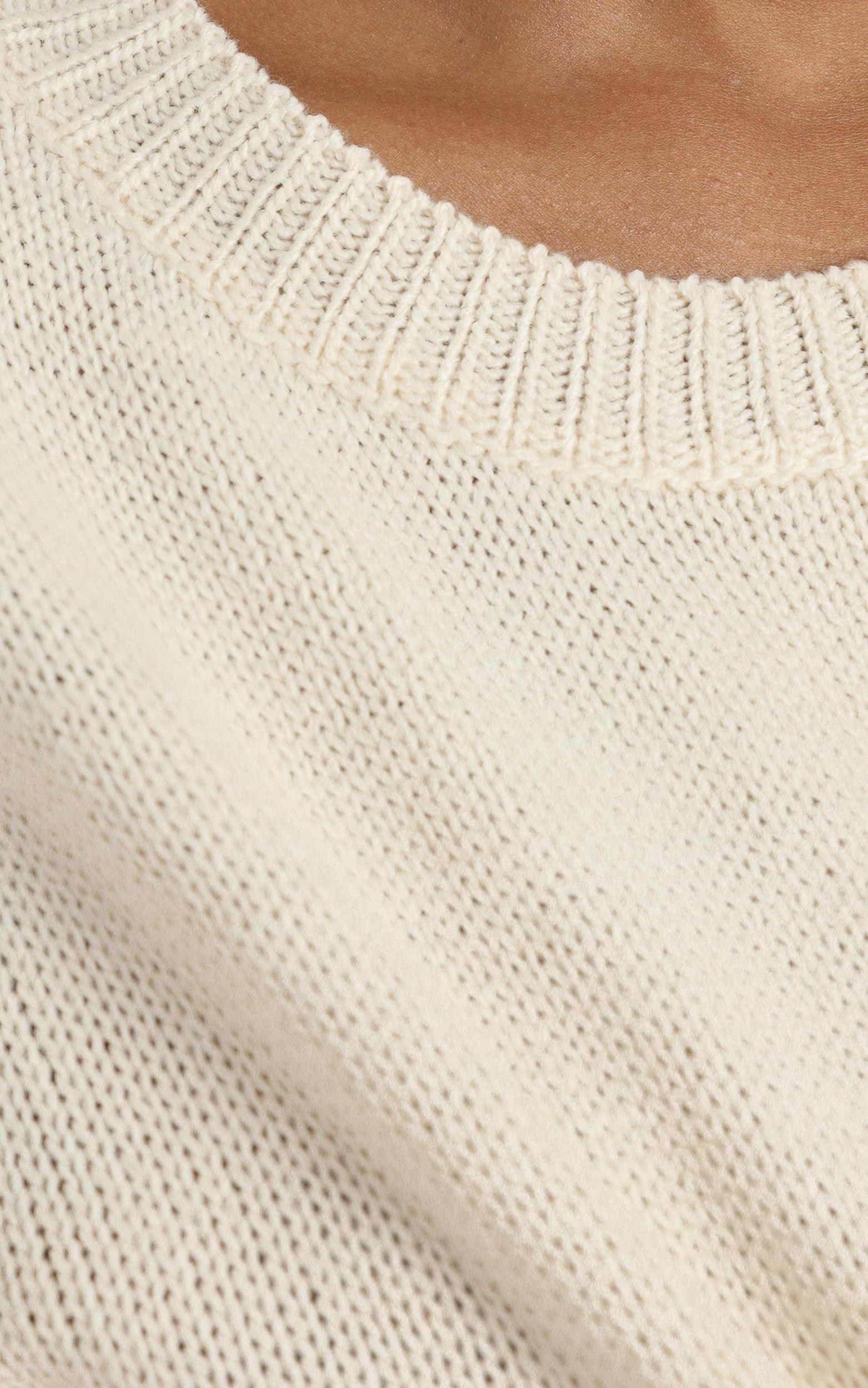 Riona  Knit Two PIece Set in Cream - 8 (S), Cream, hi-res image number null