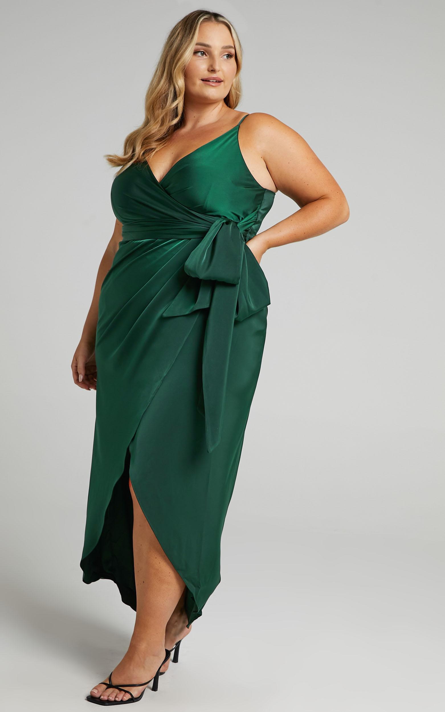 How Will I Know Dress In Emerald - 6 (XS), Green, hi-res image number null