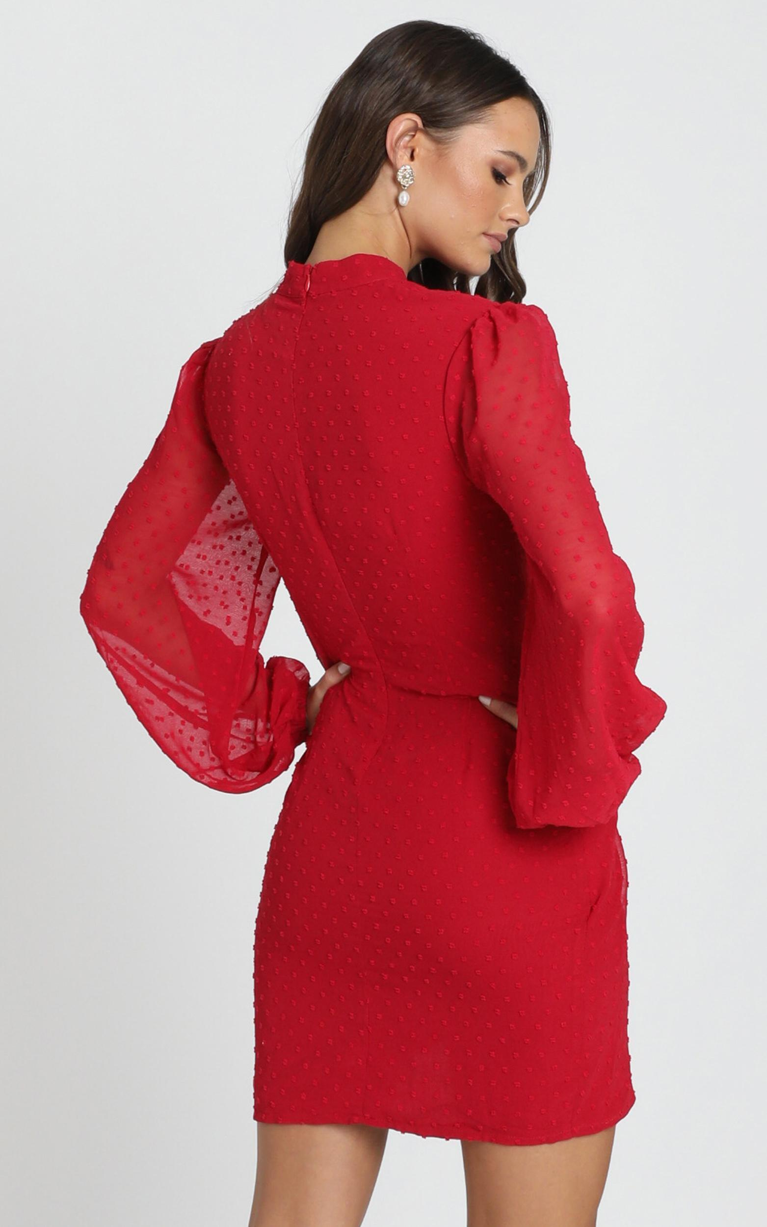 Char Dress in wine - 14 (XL), Wine, hi-res image number null