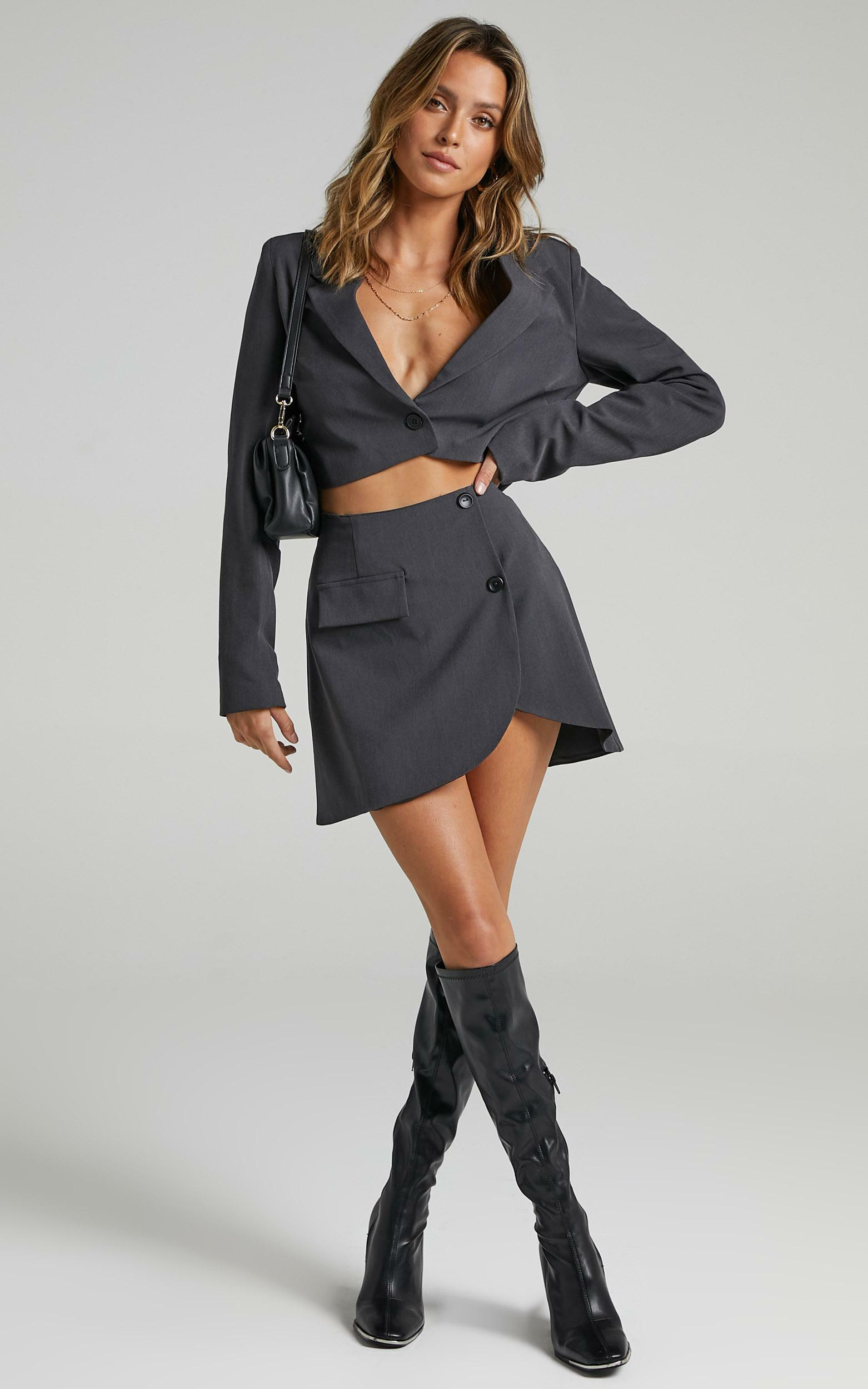 Angey Skirt in Charcoal - 06, GRY1, hi-res image number null