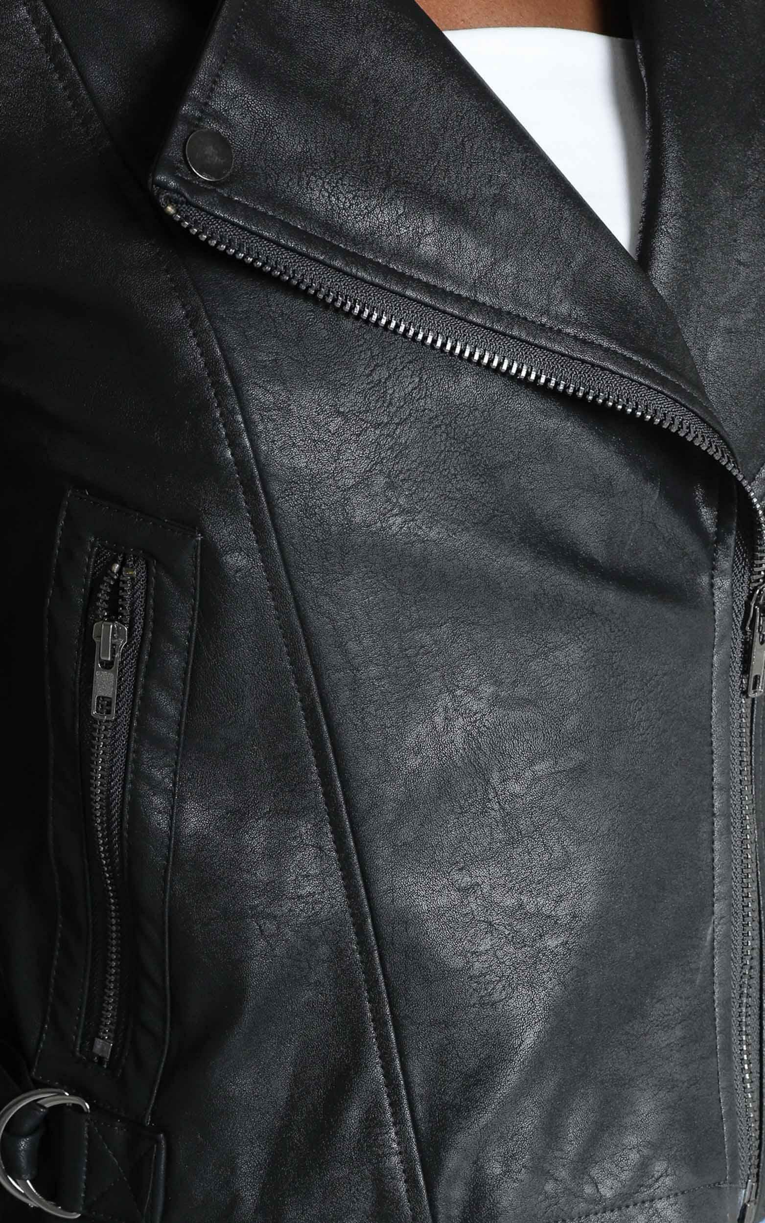 Your Desire Jacket in Black Leatherette - 14 (XL), Black, hi-res image number null
