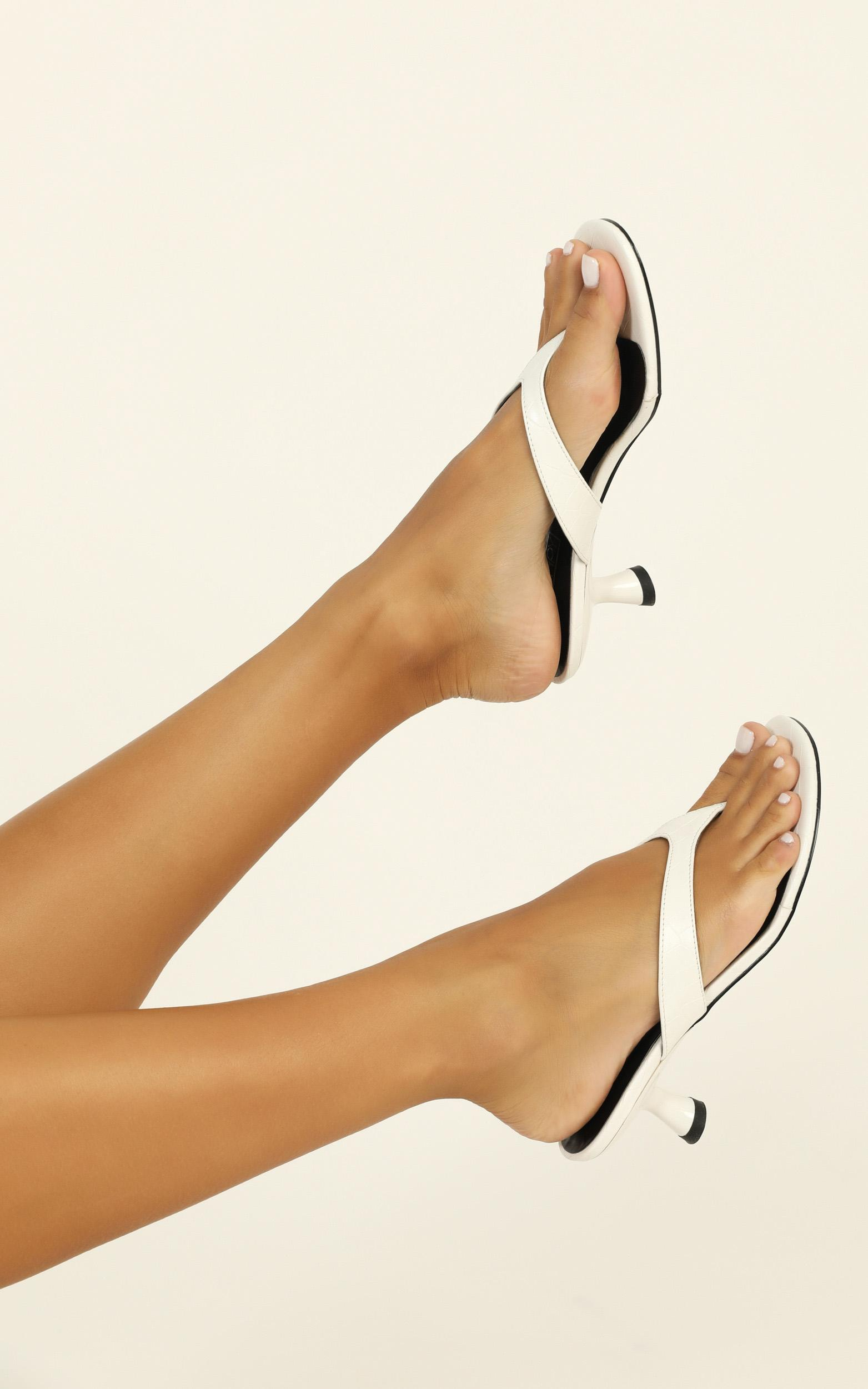 Therapy - Mici Heels in white croc - 10, White, hi-res image number null