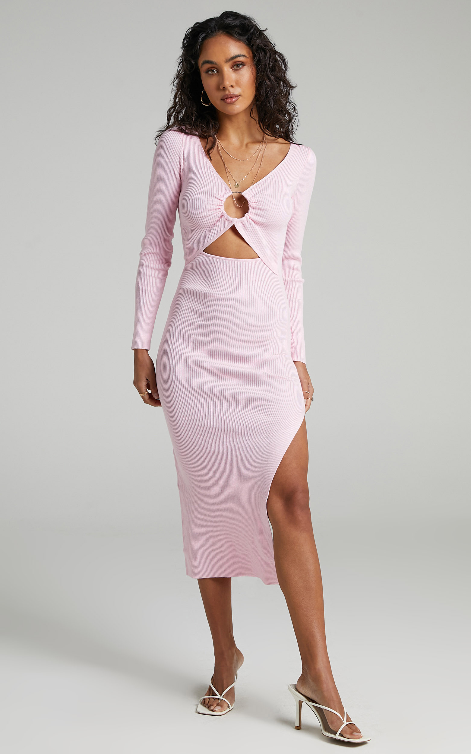 Binky Knit Dress in Ice Pink - 06, PNK1, hi-res image number null