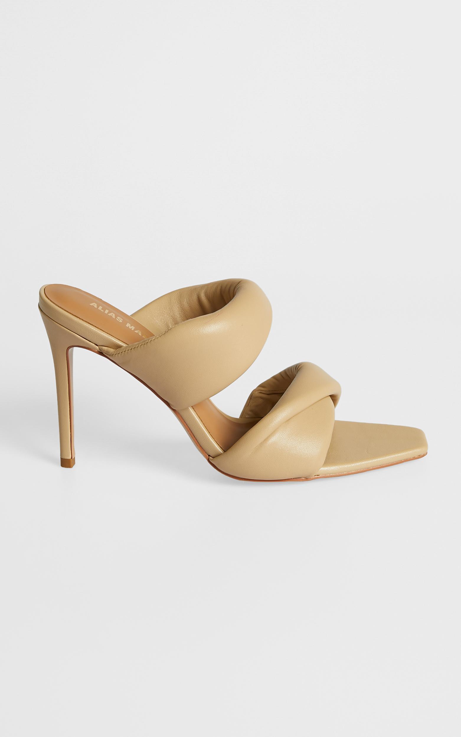Alias Mae - Issy Heel in Natural Kid Leather - 5.5, Beige, hi-res image number null