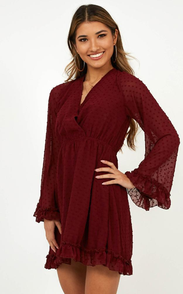 Stay Forever Dress in wine - 4 (XXS), Wine, hi-res image number null