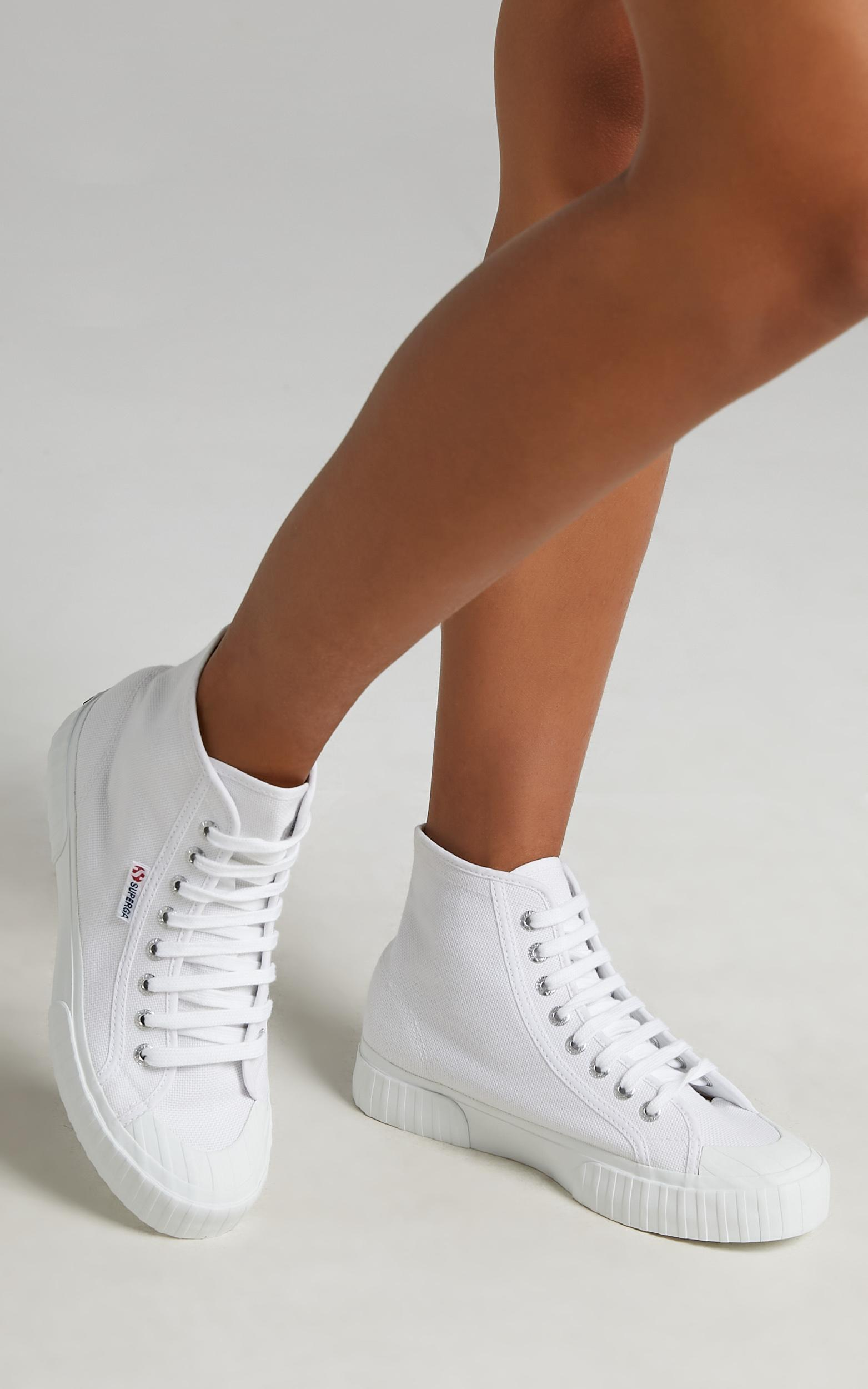 Superga - 2696 Stripe Sneakers in 901 White - 05, WHT1, hi-res image number null