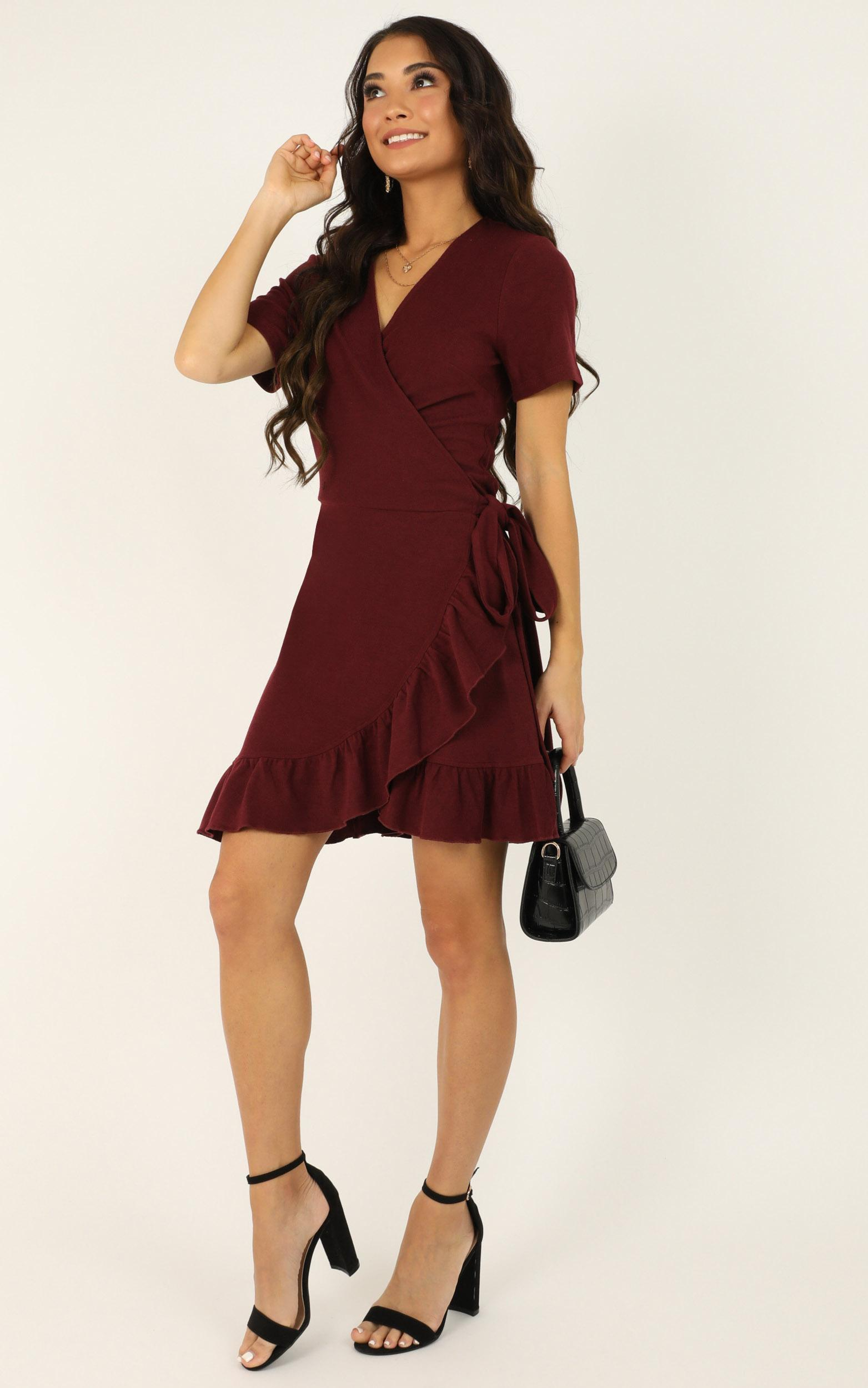 This is Happening Dress in wine - 20 (XXXXL), Wine, hi-res image number null