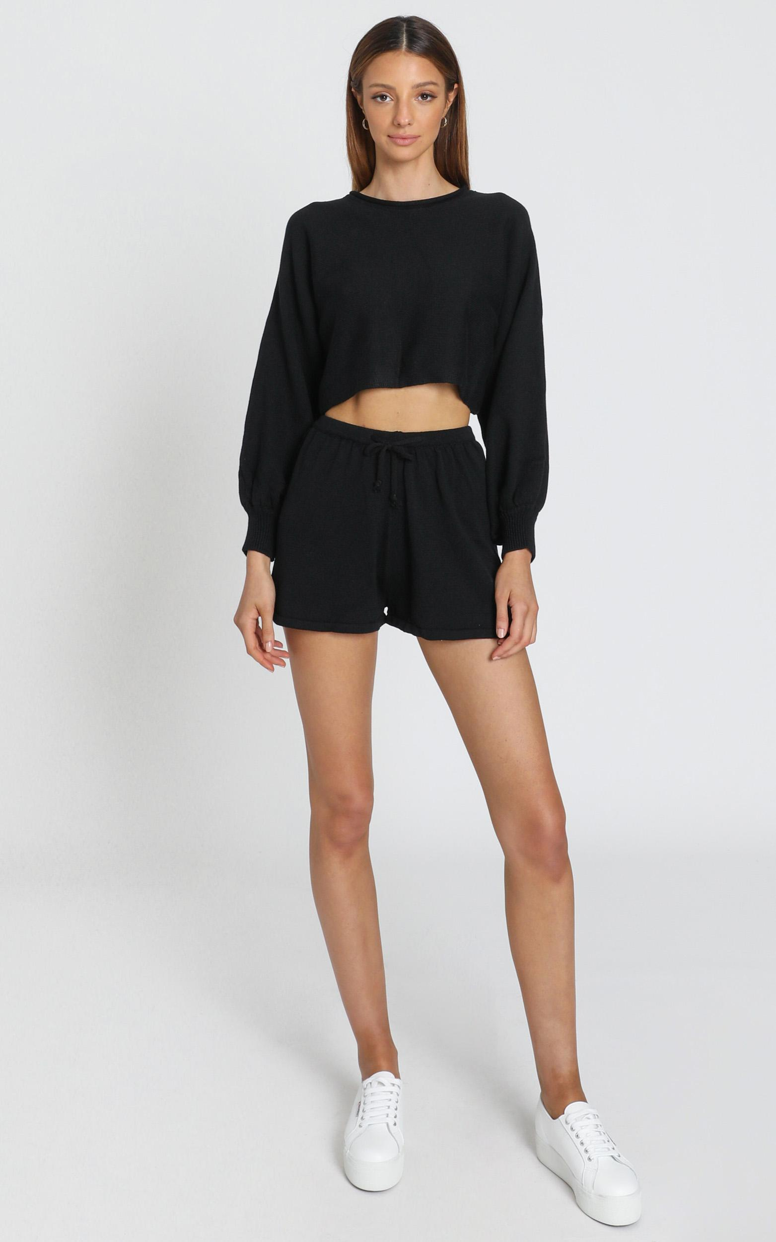 Hartley Knitted Shorts In Black - 8 (S), Black, hi-res image number null