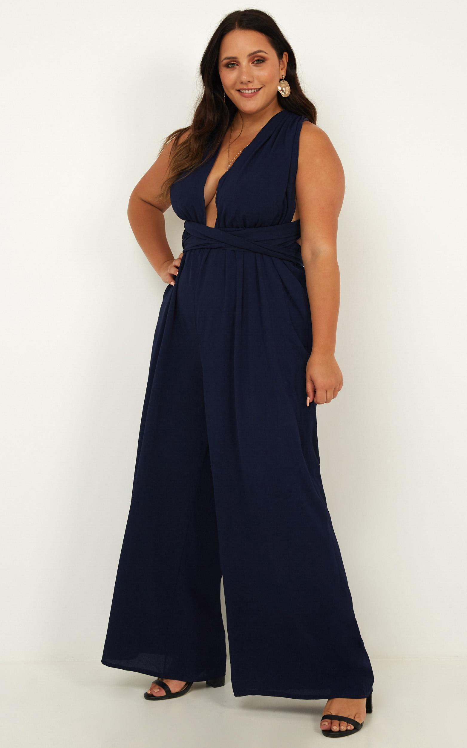 Girls Life Jumpsuit in navy - 20 (XXXXL), Navy, hi-res image number null