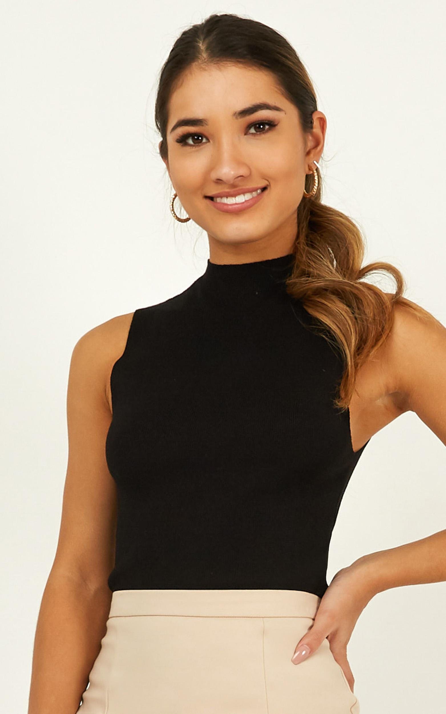 Time Will Tell Knit Top in black - 20 (XXXXL), Black, hi-res image number null