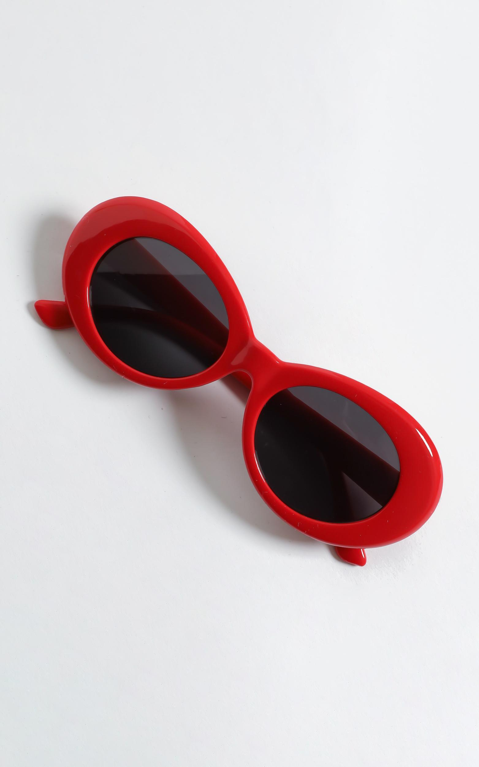Alda Sunglasses in Red, Red, hi-res image number null