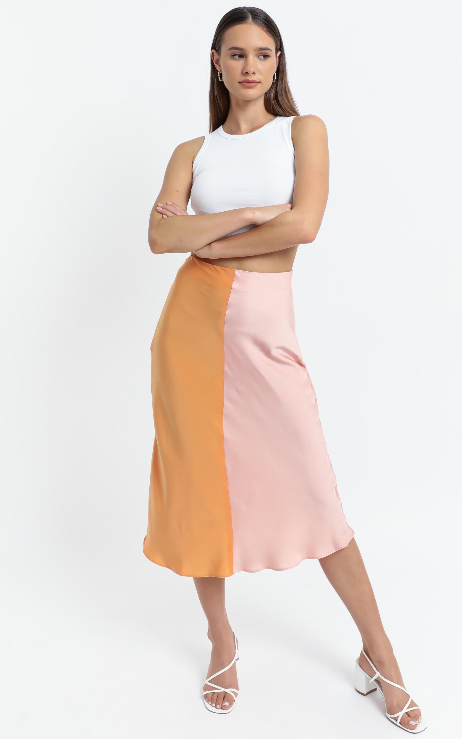 Addington Skirt in Pink and Orange - 6 (XS), Pink, hi-res image number null