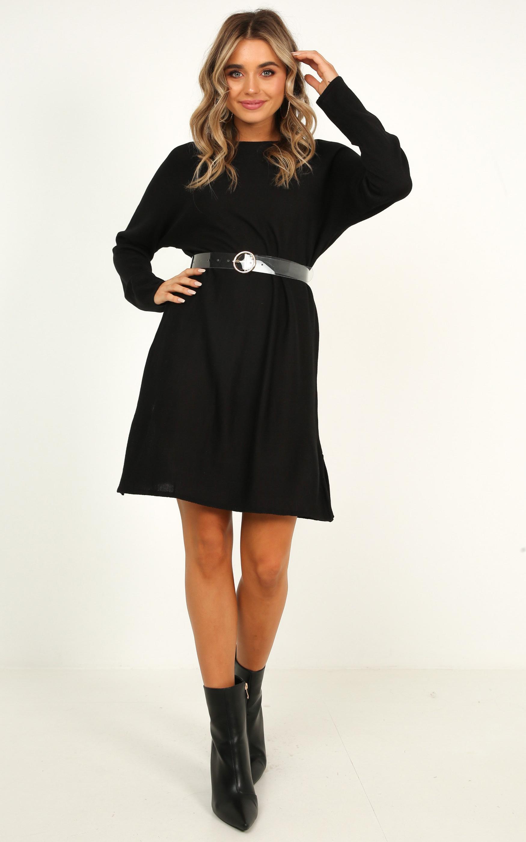 Got A Smile Dress in black - 14 (XL), Black, hi-res image number null