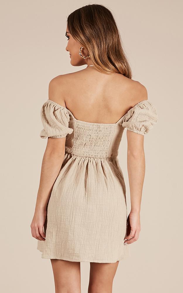 Youthful Energy Dress in beige linen look - 20 (XXXXL), Beige, hi-res image number null