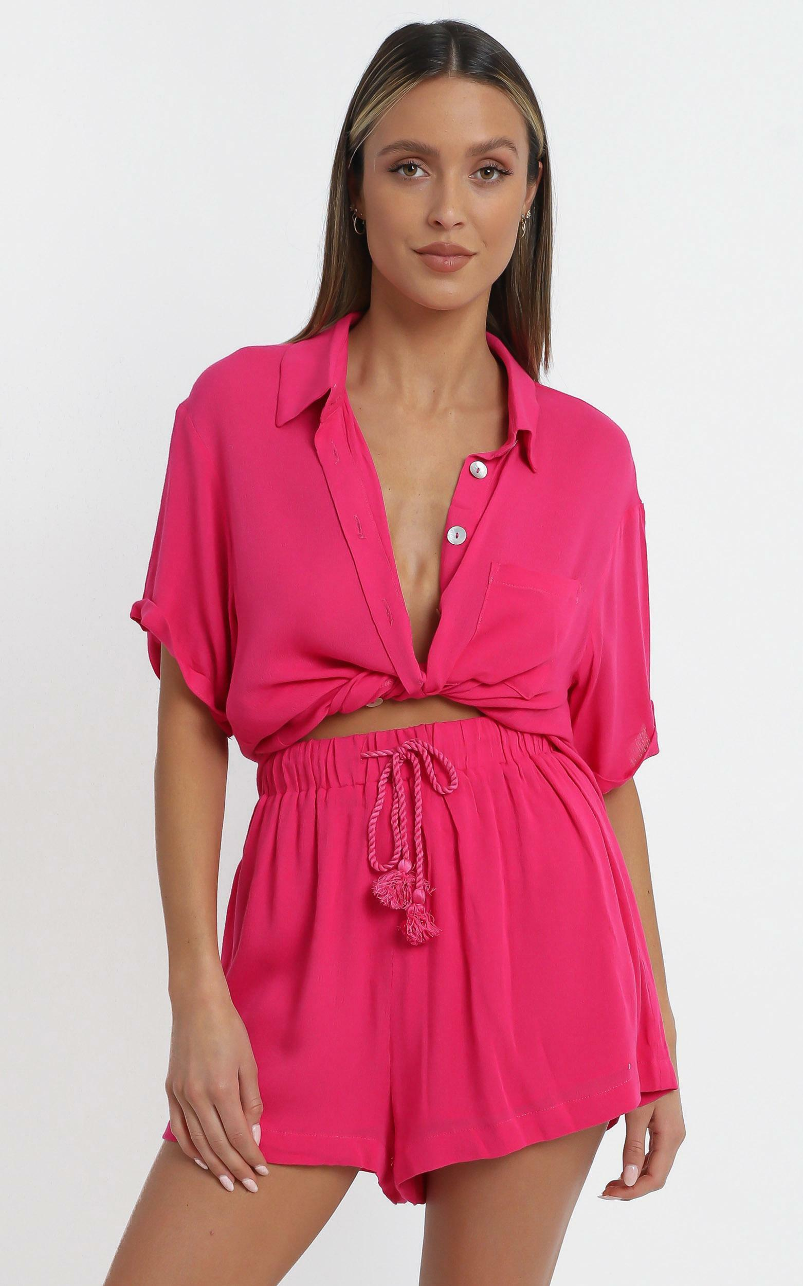 Jubilee Two Piece Set in Hot Pink - 14 (XL), Pink, hi-res image number null