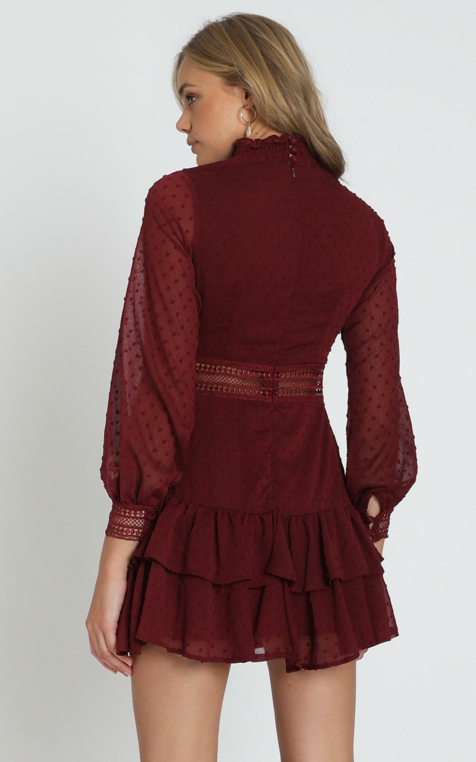 Are You Gonna Kiss Me Dress in wine - 20 (XXXXL), Wine, hi-res image number null