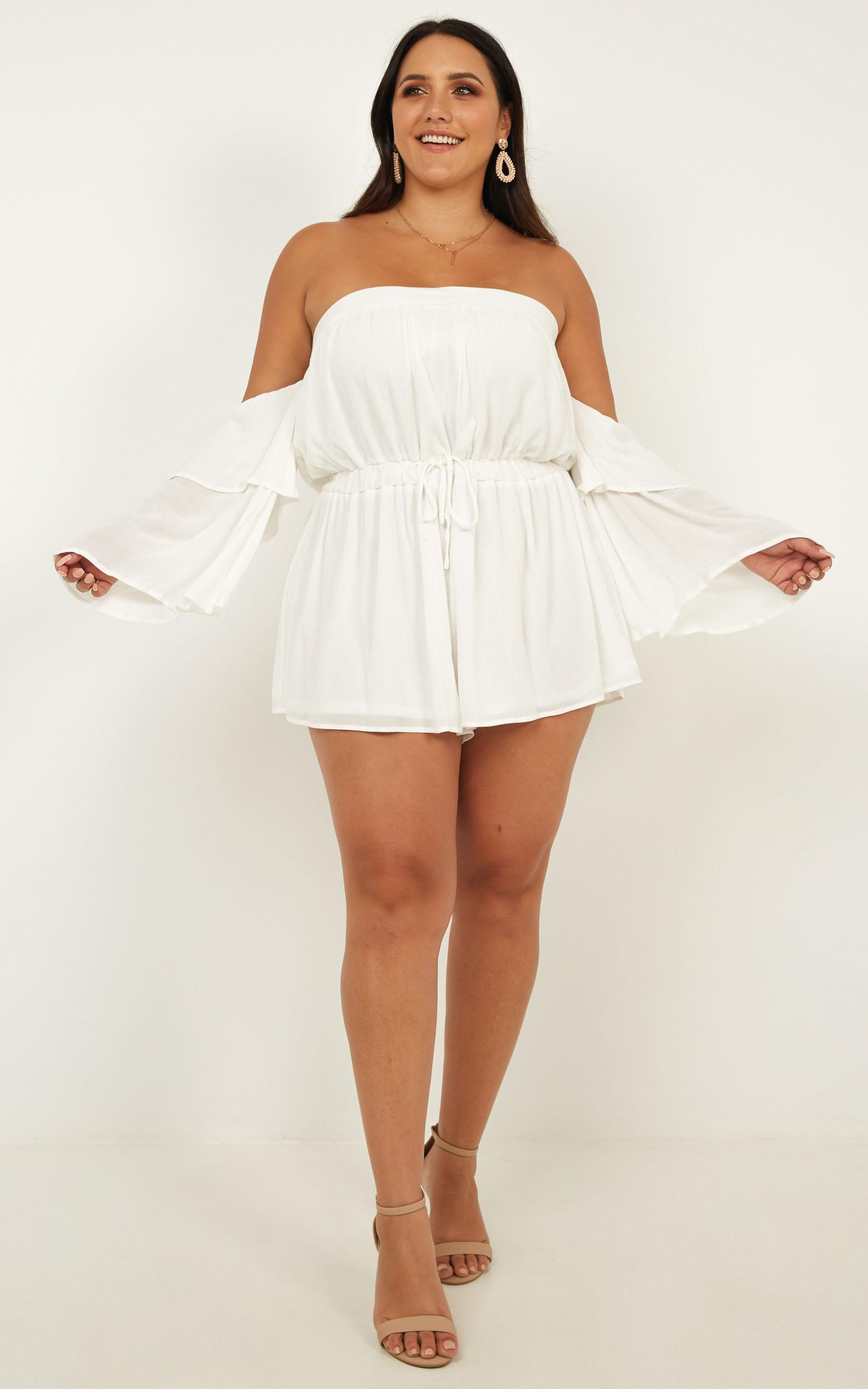 Keeping Me Playsuit in white - 20 (XXXXL), White, hi-res image number null