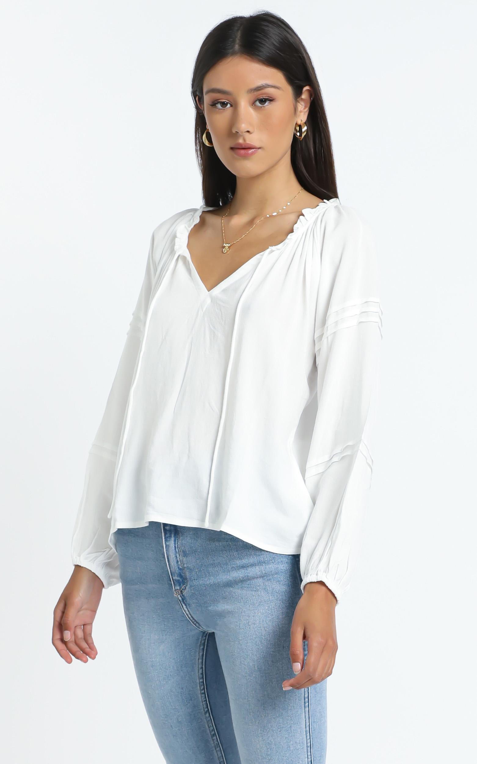 Allyce Top in White - 12 (L), White, hi-res image number null