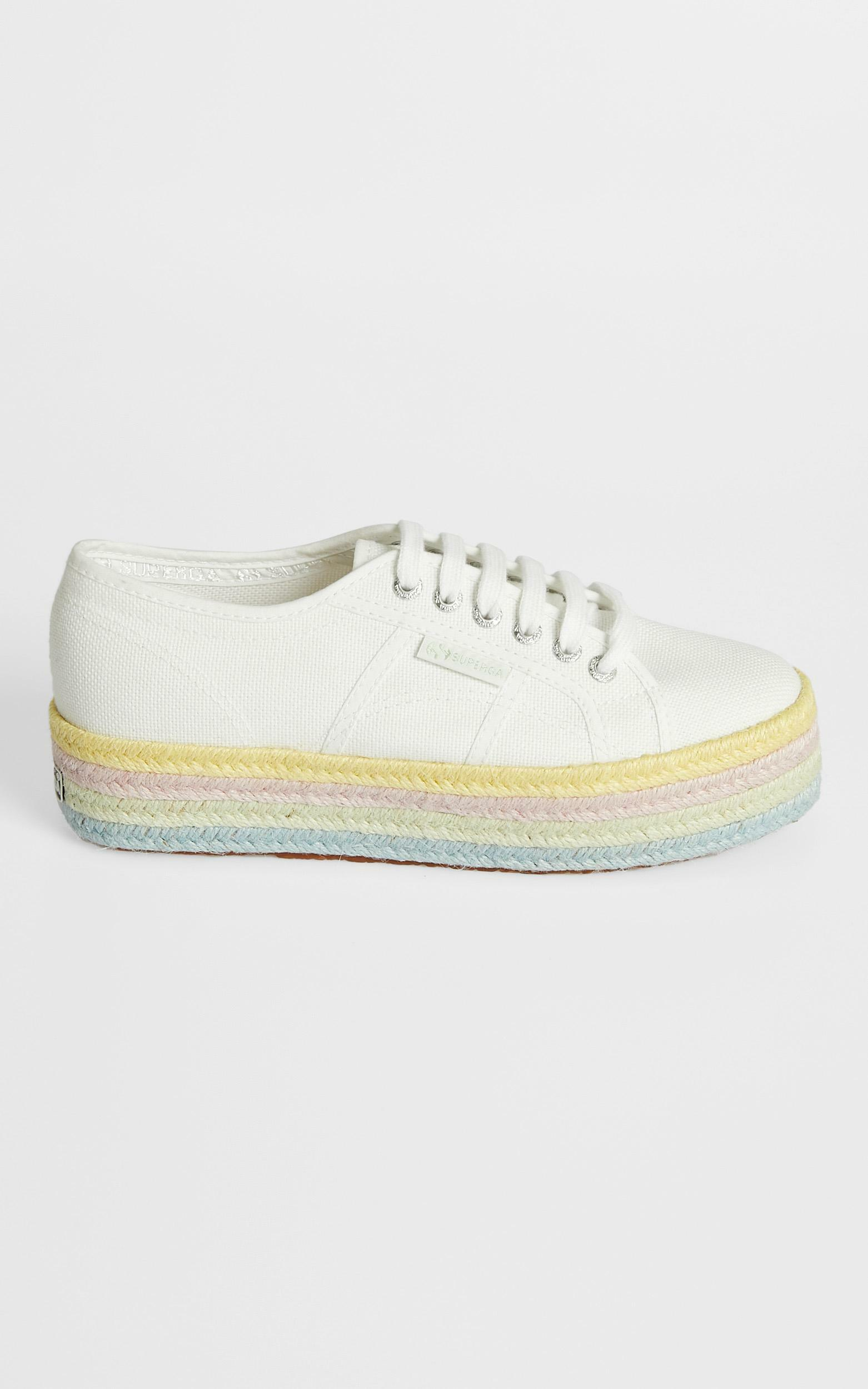 Superga - 2790 COT Color Rope in white - lemonade pale lilac - 5, WHT2, hi-res image number null