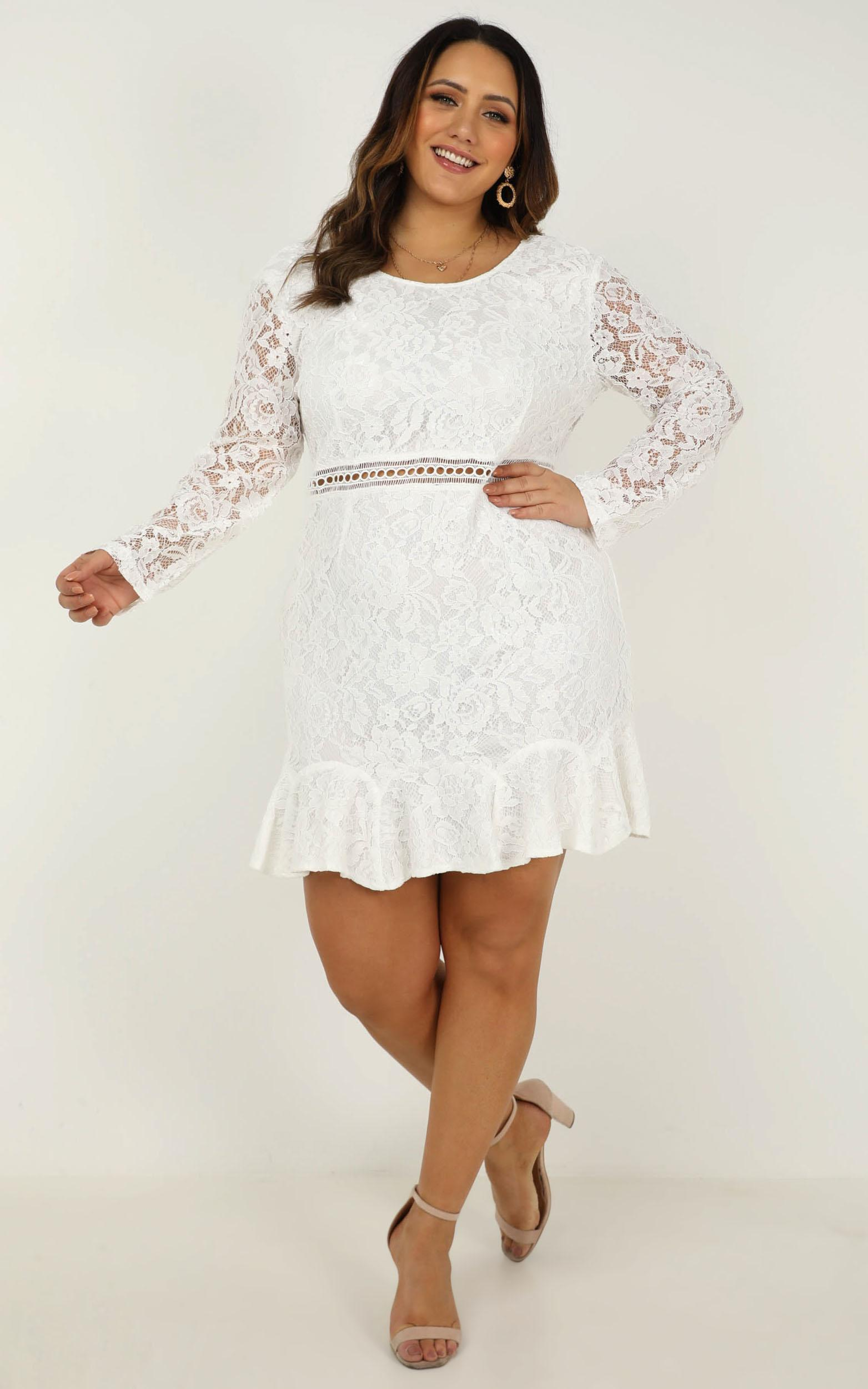 I Belong Dress in white lace - 20 (XXXXL), White, hi-res image number null