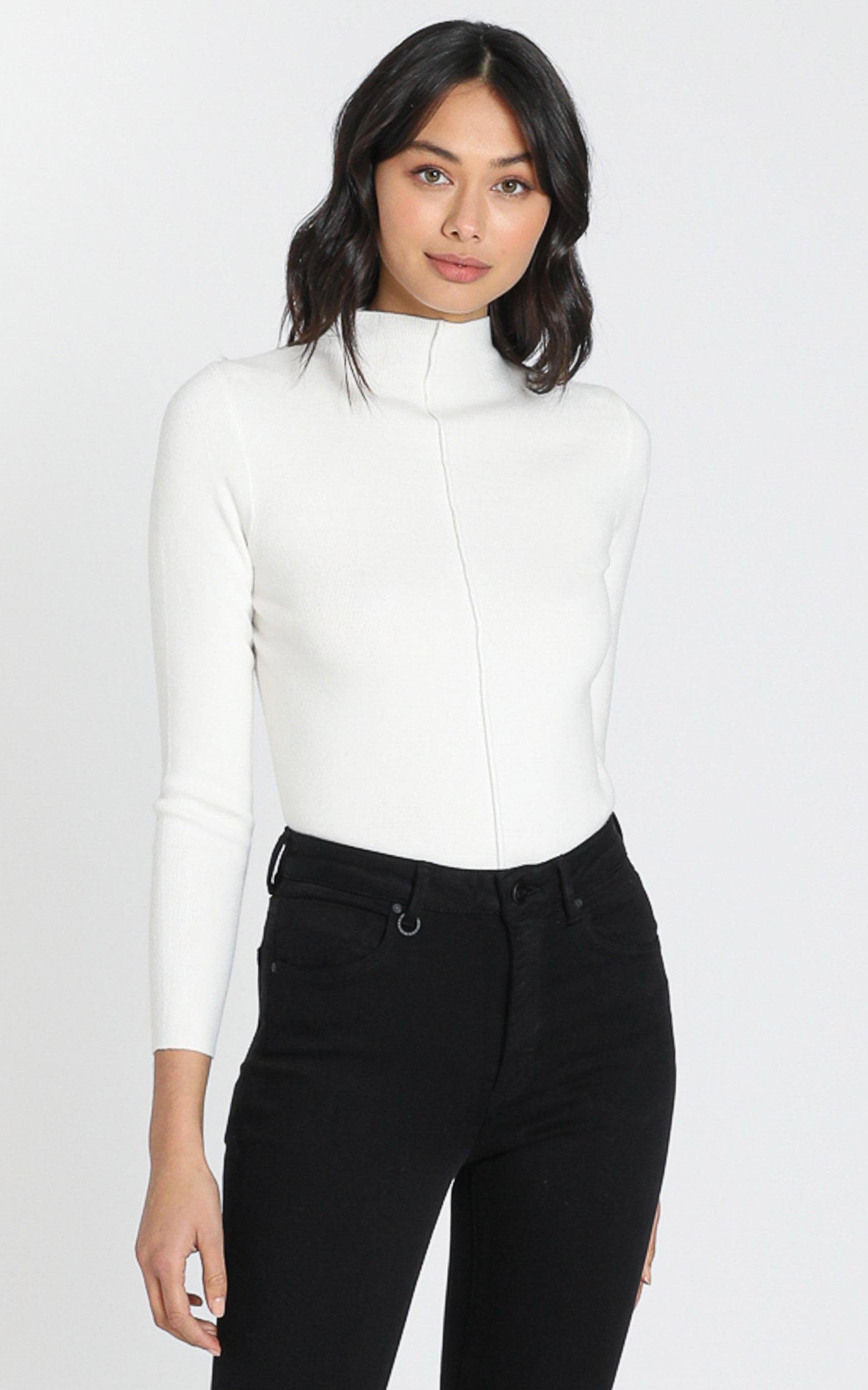 Camden Knit Top in White - S/M, White, hi-res image number null