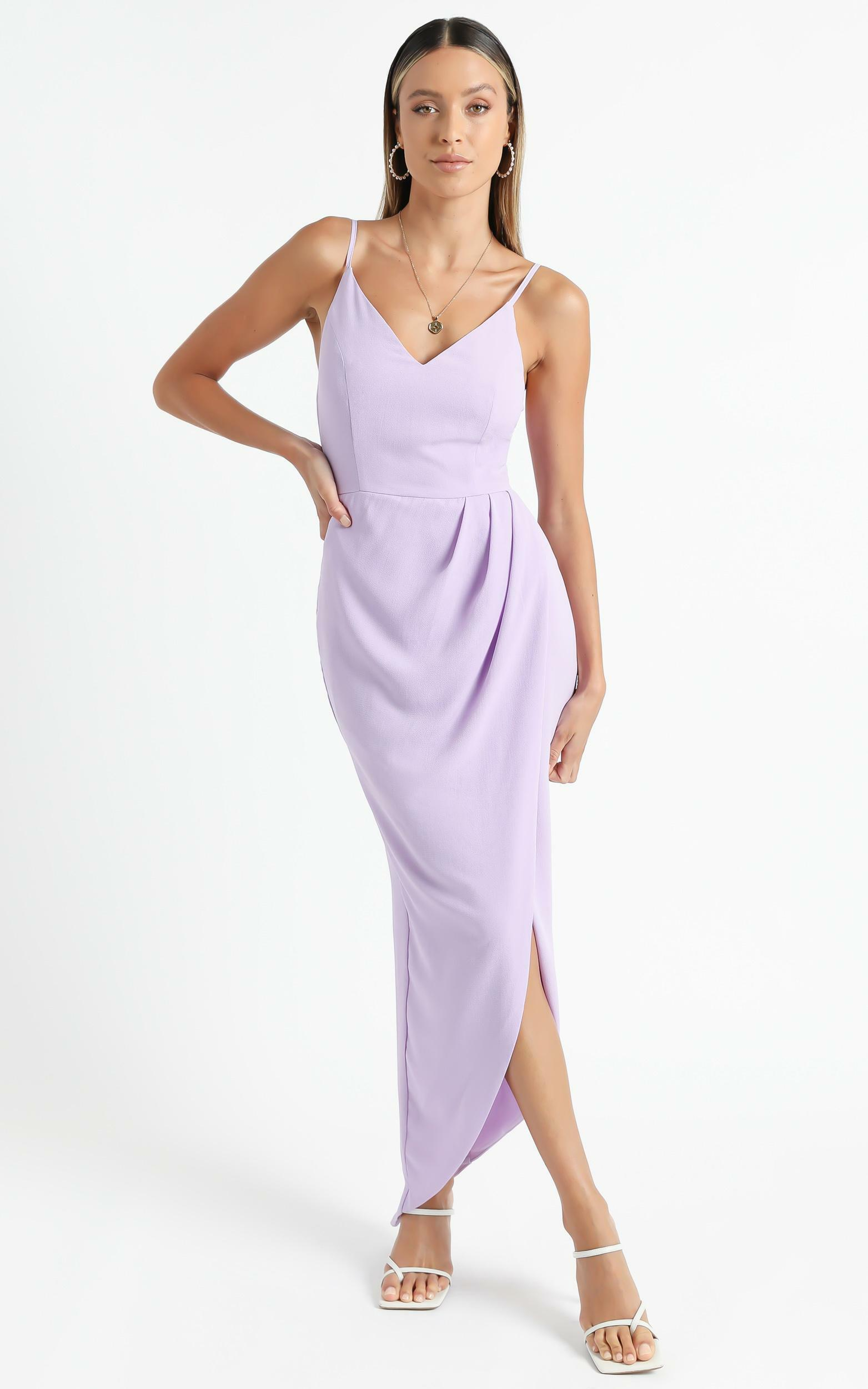 Lucky Day Drape Maxi Dress in Lilac - 06, PRP10, hi-res image number null