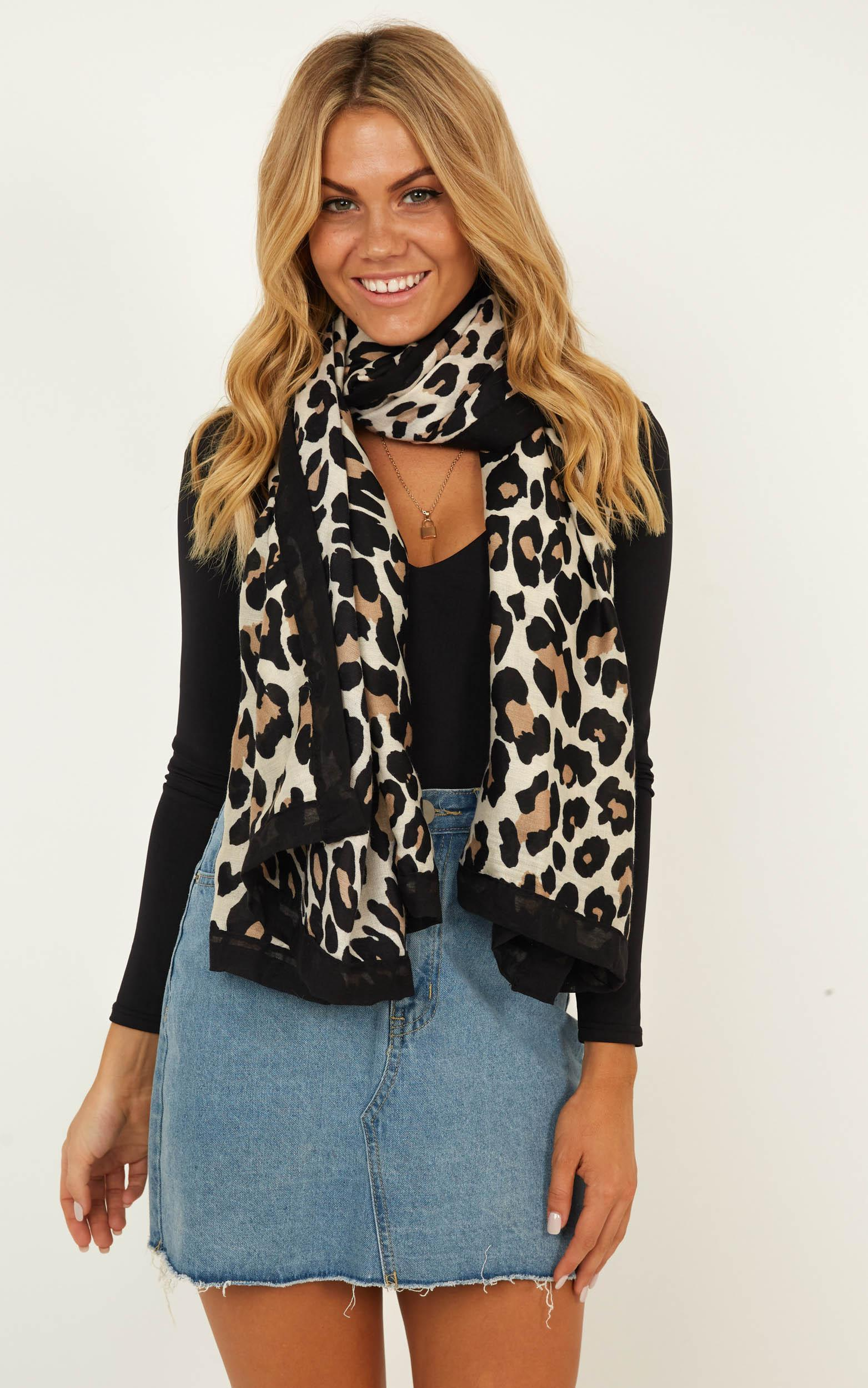 Always Here Scarf In Leopard Print, , hi-res image number null