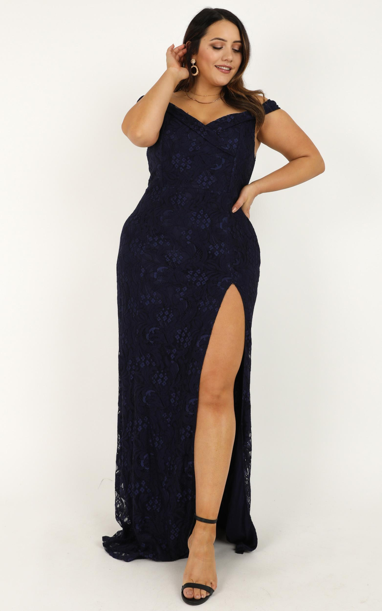 Tell It To The World Dress in navy lace - 18 (XXXL), Navy, hi-res image number null