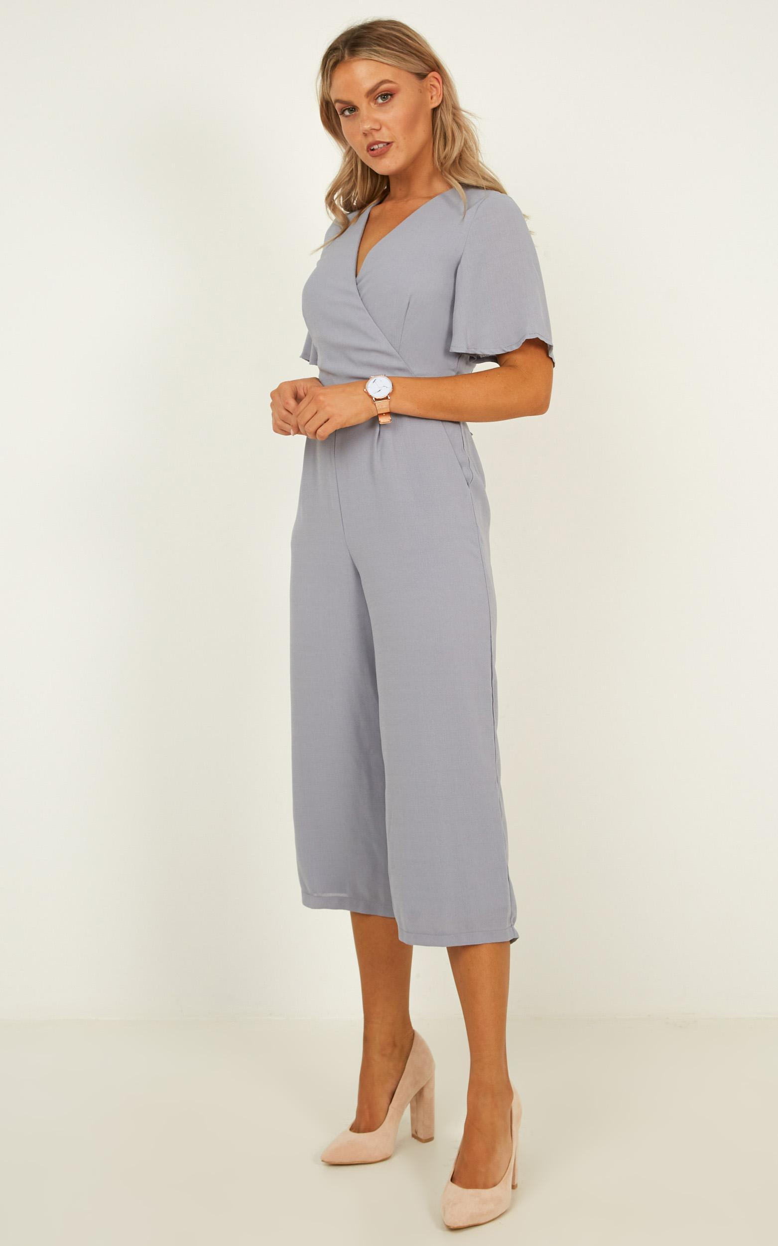 Writers Retreat Jumpsuit in grey - 6 (XS), Grey, hi-res image number null