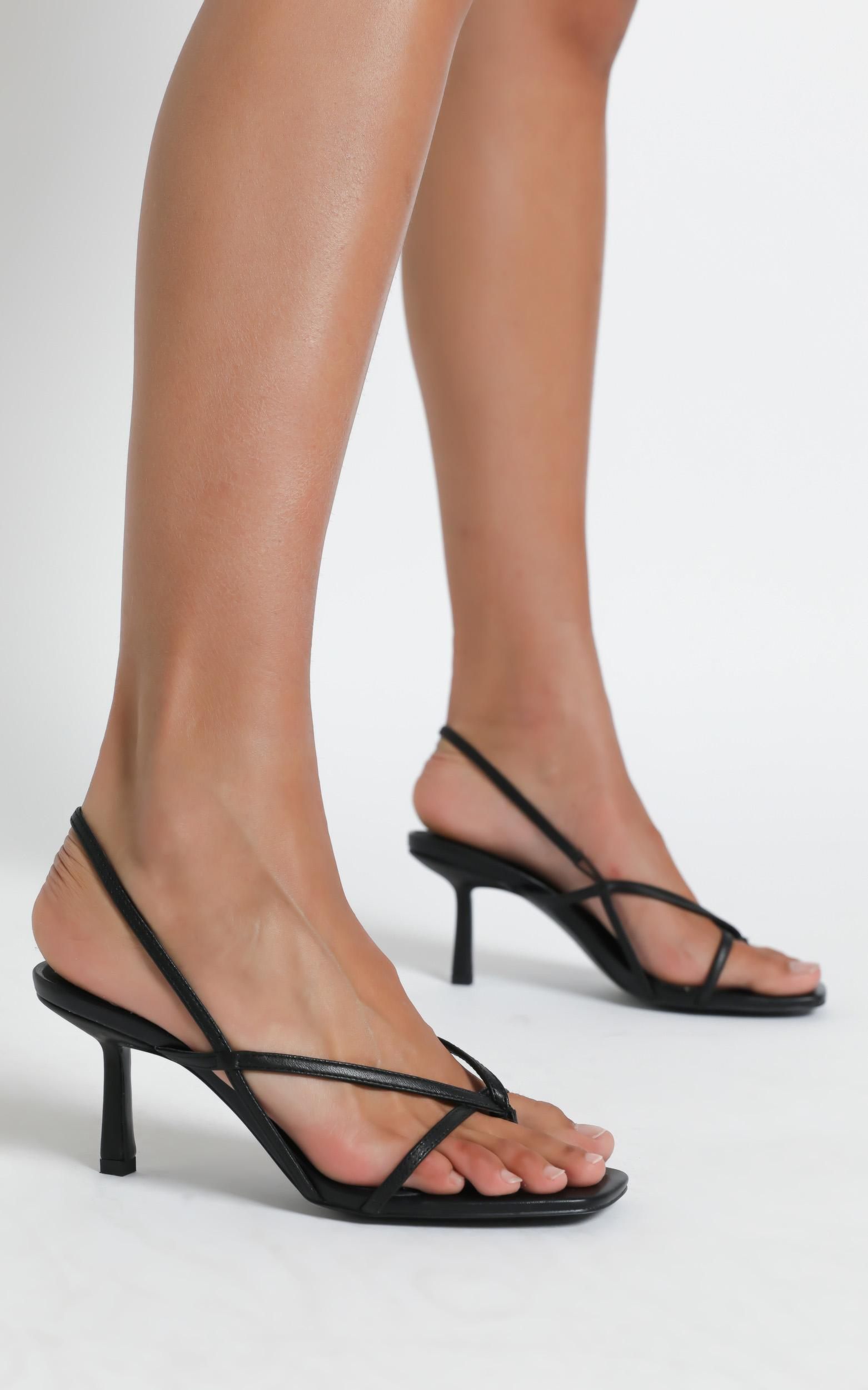 Alias Mae - Lilo Heel in Black Kid Leather  - 5.5, BLK1, hi-res image number null