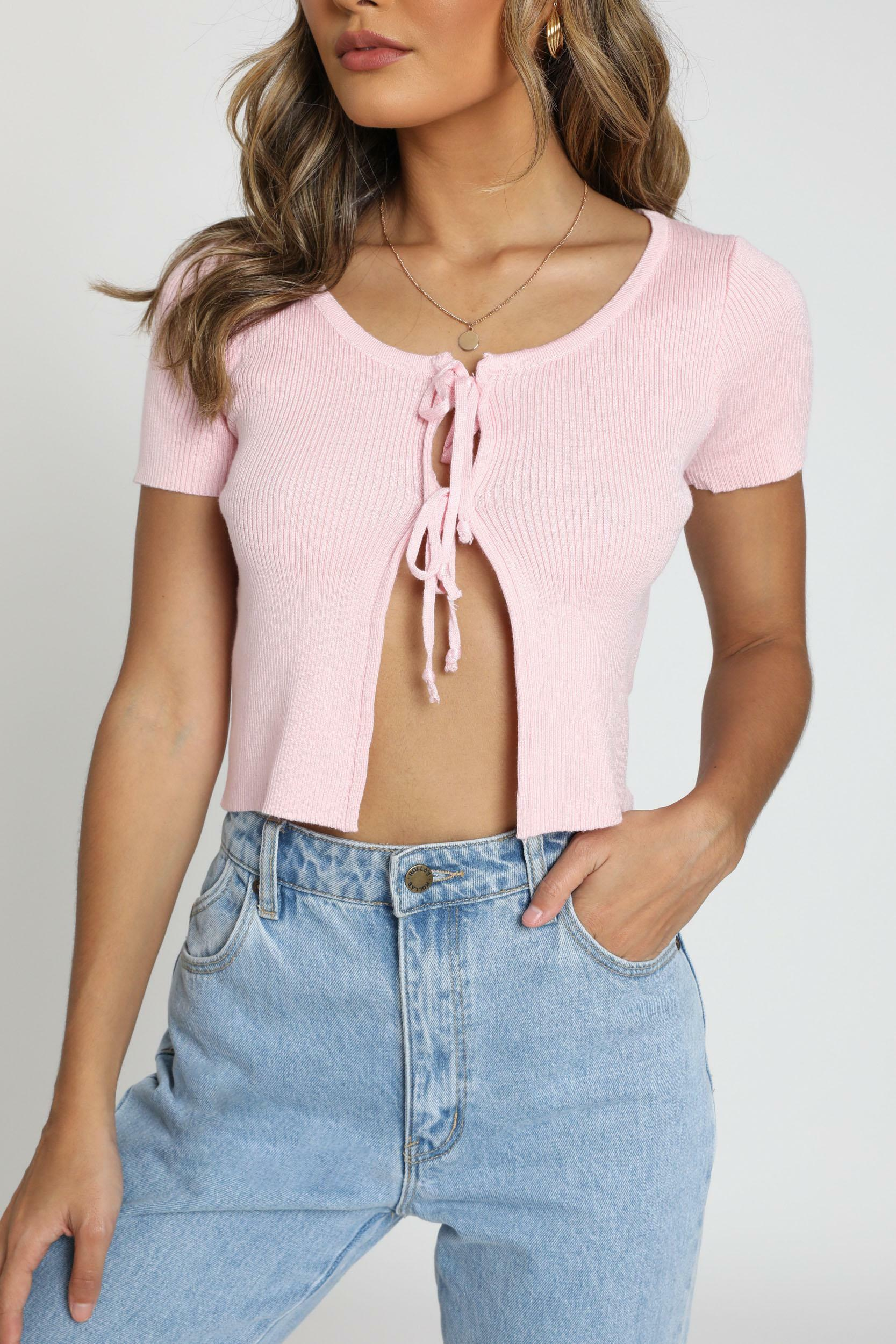 Thinking Aloud Top in pink - 12 (L), Pink, hi-res image number null
