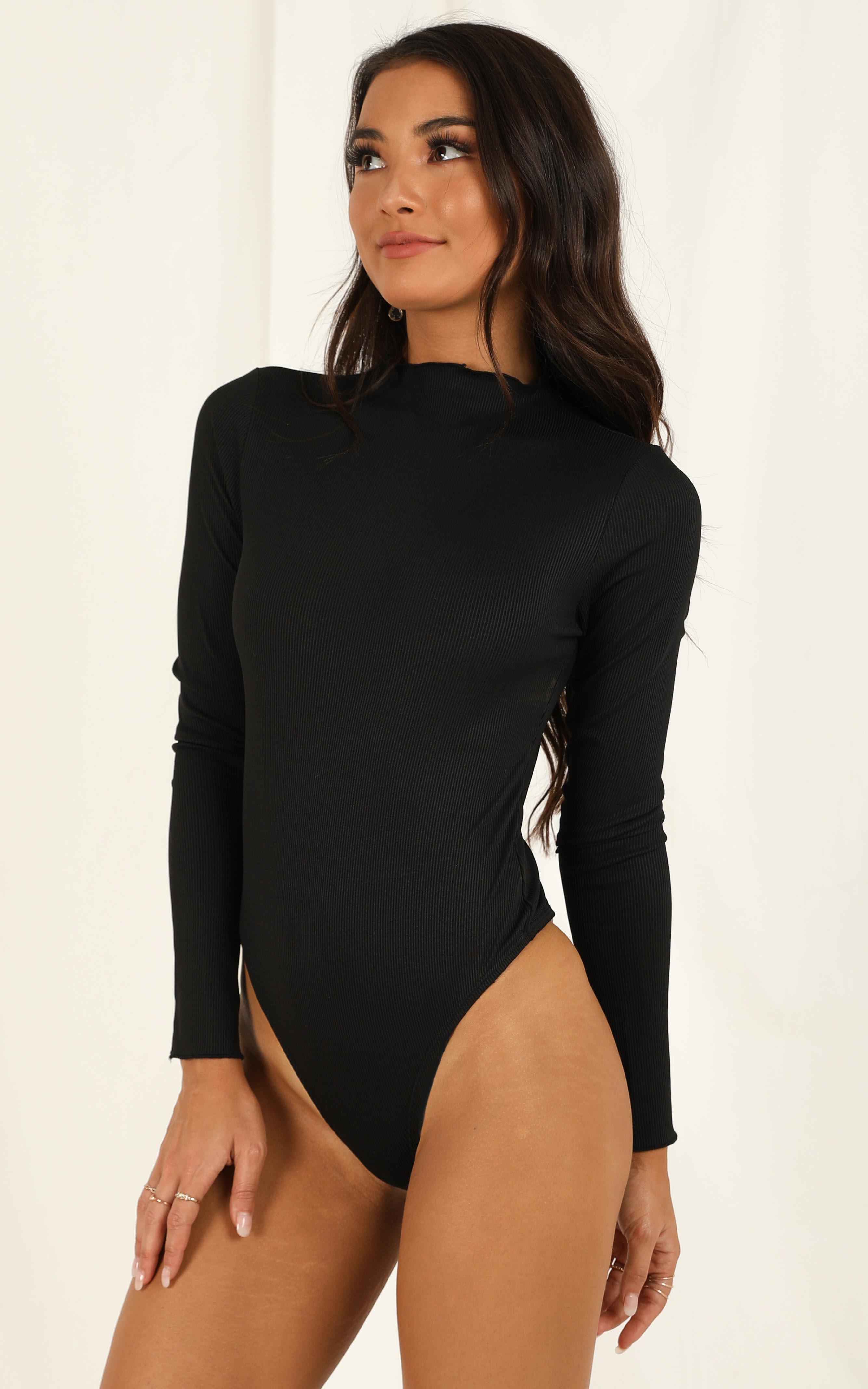Natural Attraction Bodysuit in black - 14 (XL), Black, hi-res image number null